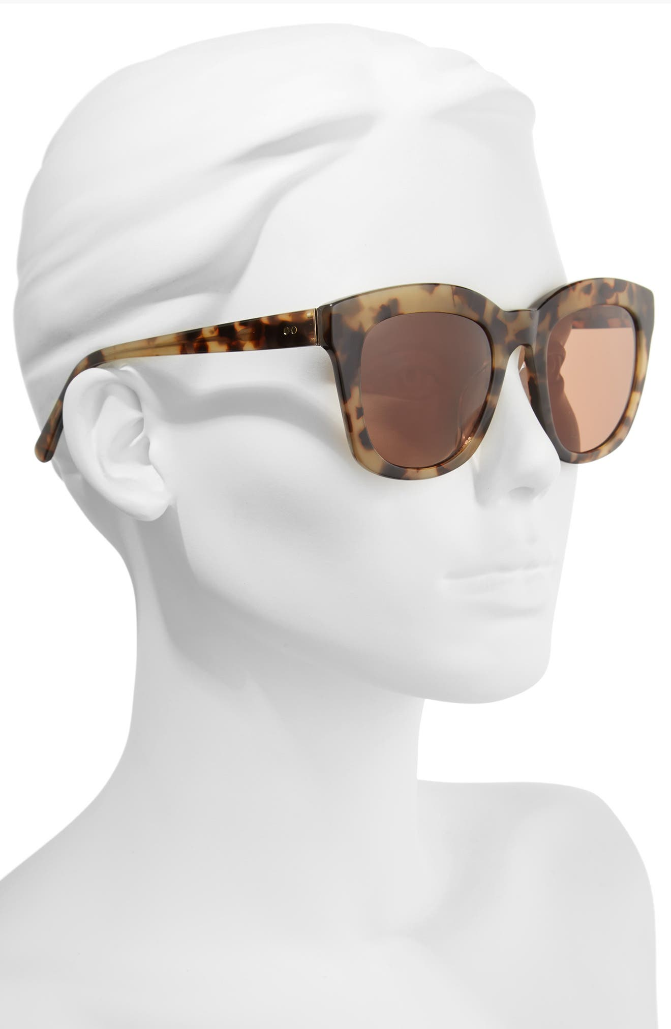 Kiri 52mm Sunglasses,                             Alternate thumbnail 2, color,                             Java- Gold
