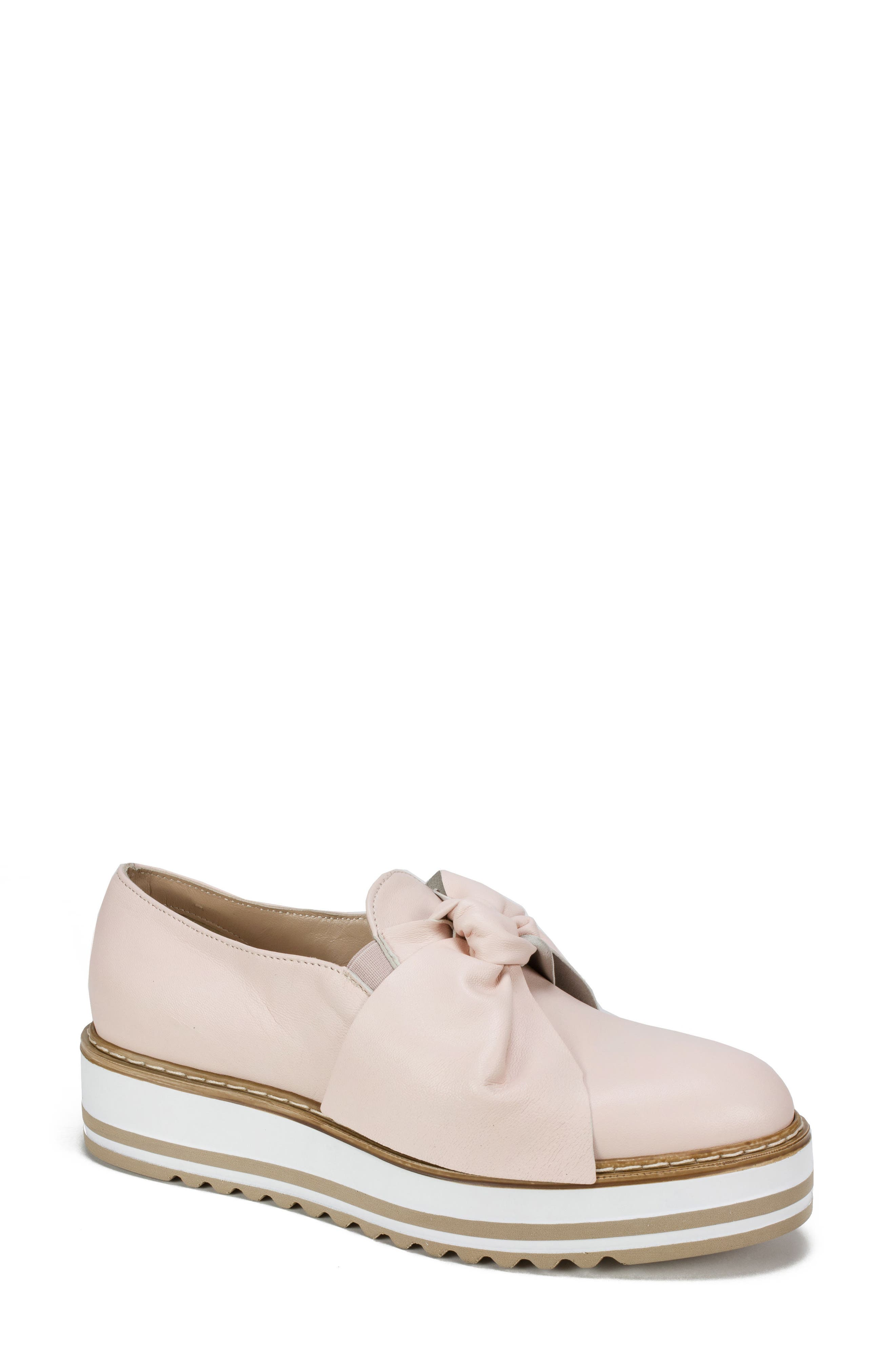 Bella Platform Loafer,                         Main,                         color, Pink Leather