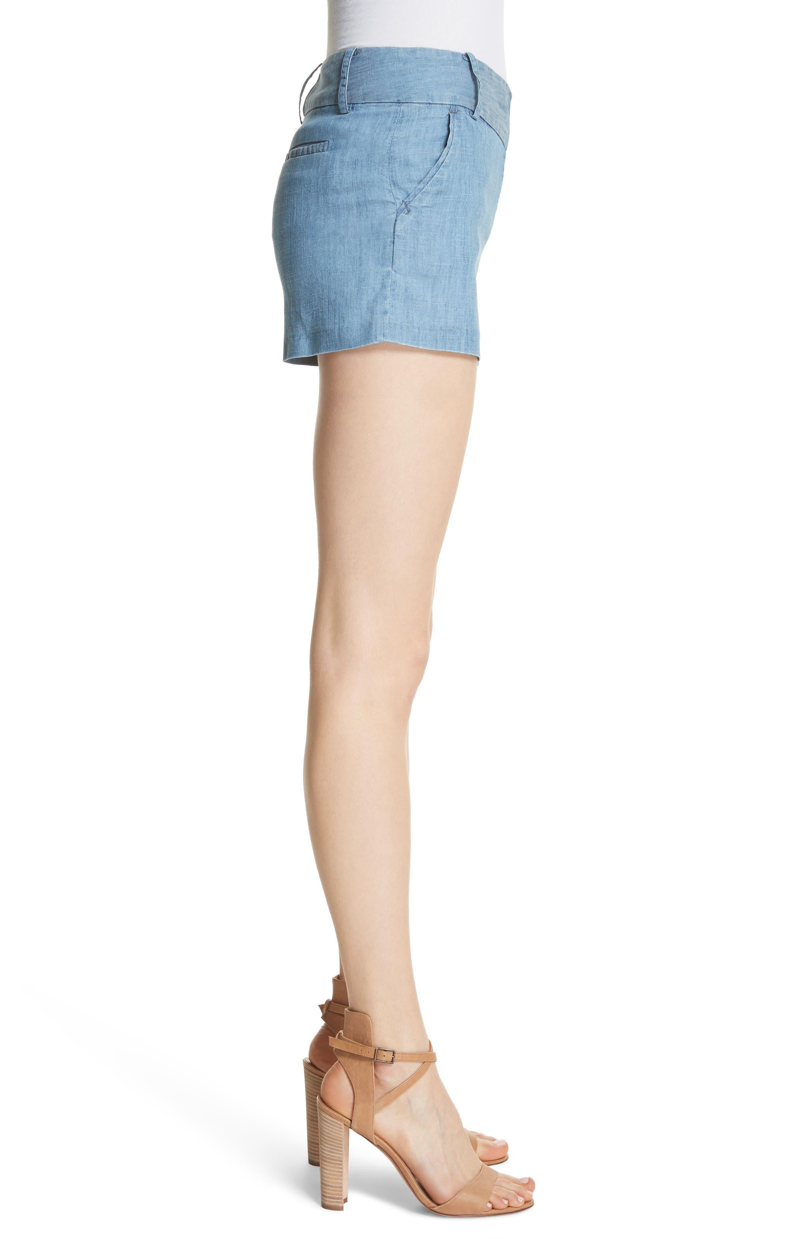 Cady Lyocell Blend Shorts,                             Alternate thumbnail 3, color,                             Light Chambray