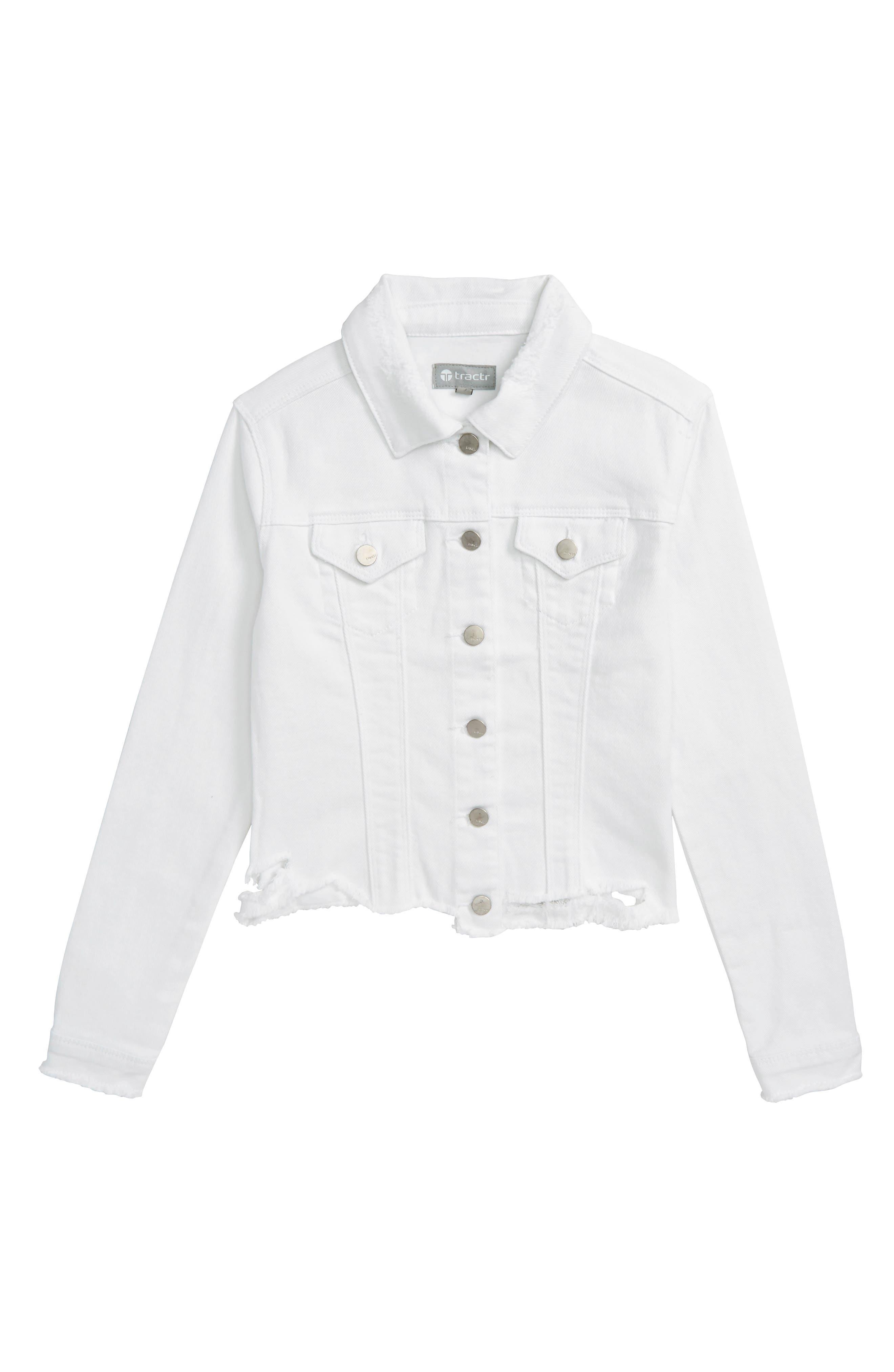Tractr Deconstructed Denim Jacket (Big Girls)