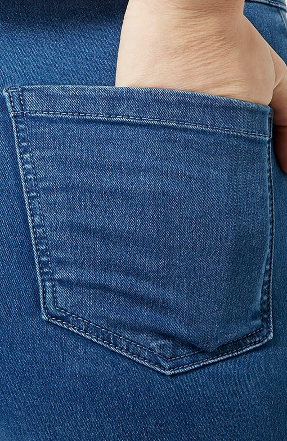 Alternate Image 3  - Topshop Moto 'Joni' High Rise Super Skinny Jeans (Mid Denim) (Petite)