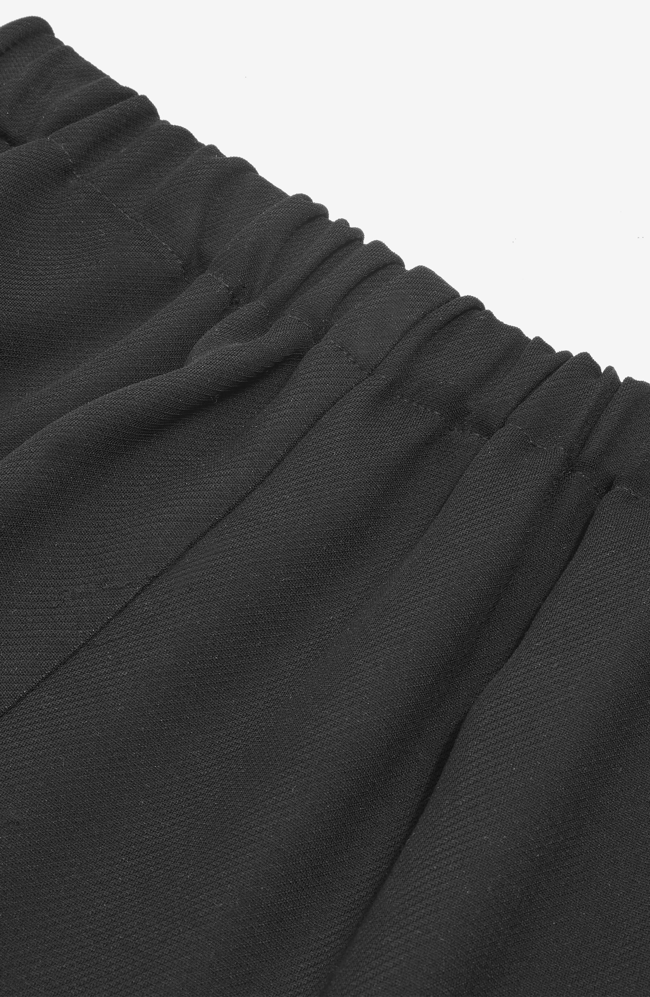 Drawcord Jogger Pants,                             Alternate thumbnail 4, color,                             Black