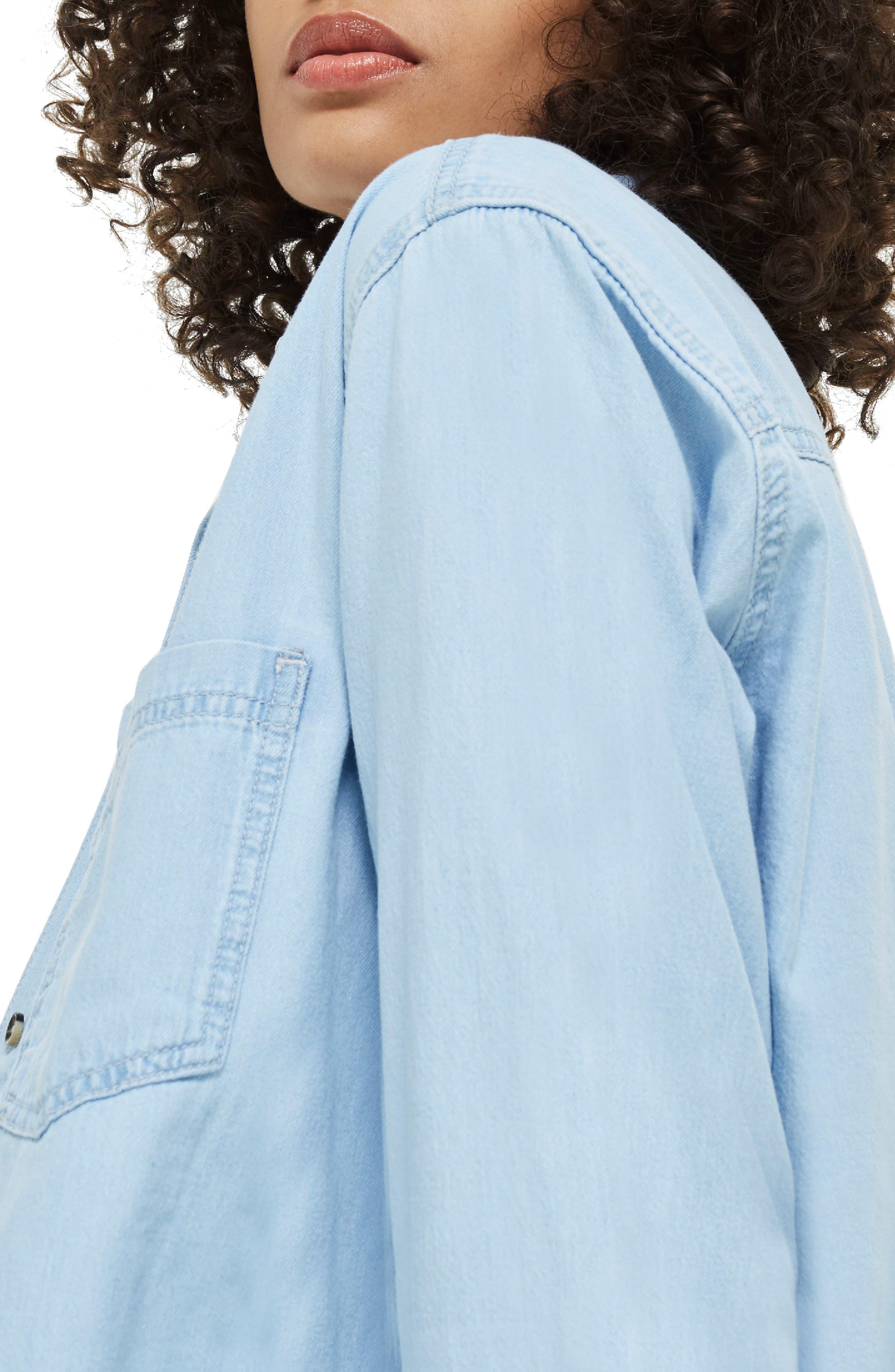 Alternate Image 2  - Topshop Drake Oversize Denim Shirt