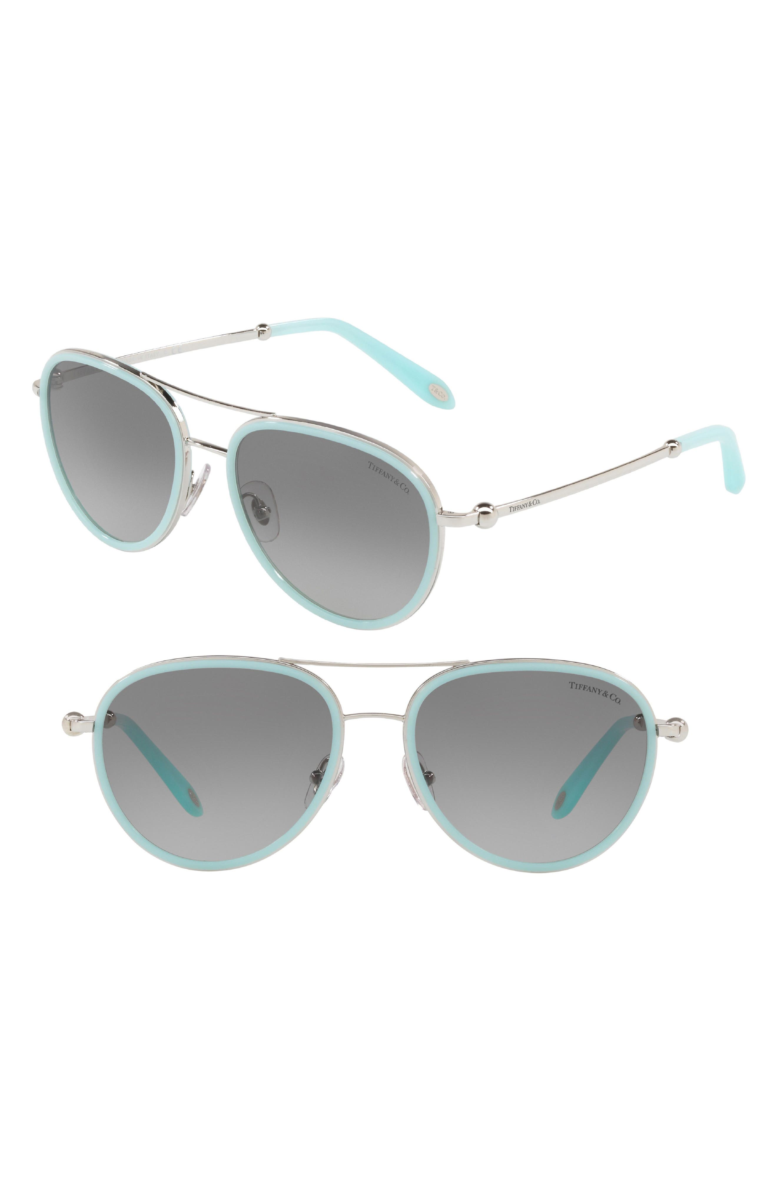 Tiffany & Co. 55mm Gradient Aviator Sunglasses