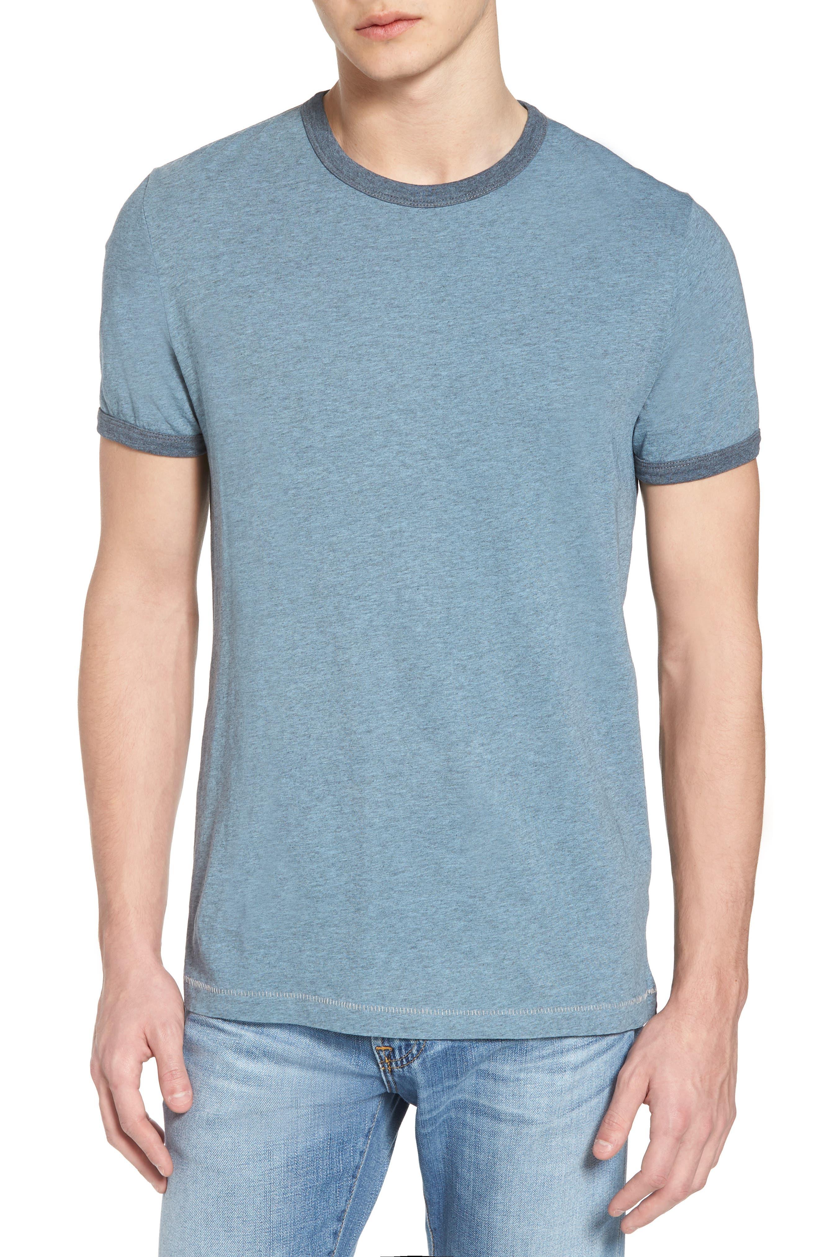 Bens Slim Fit Ringer T-Shirt,                             Main thumbnail 1, color,                             Overdyed Ashley Blue