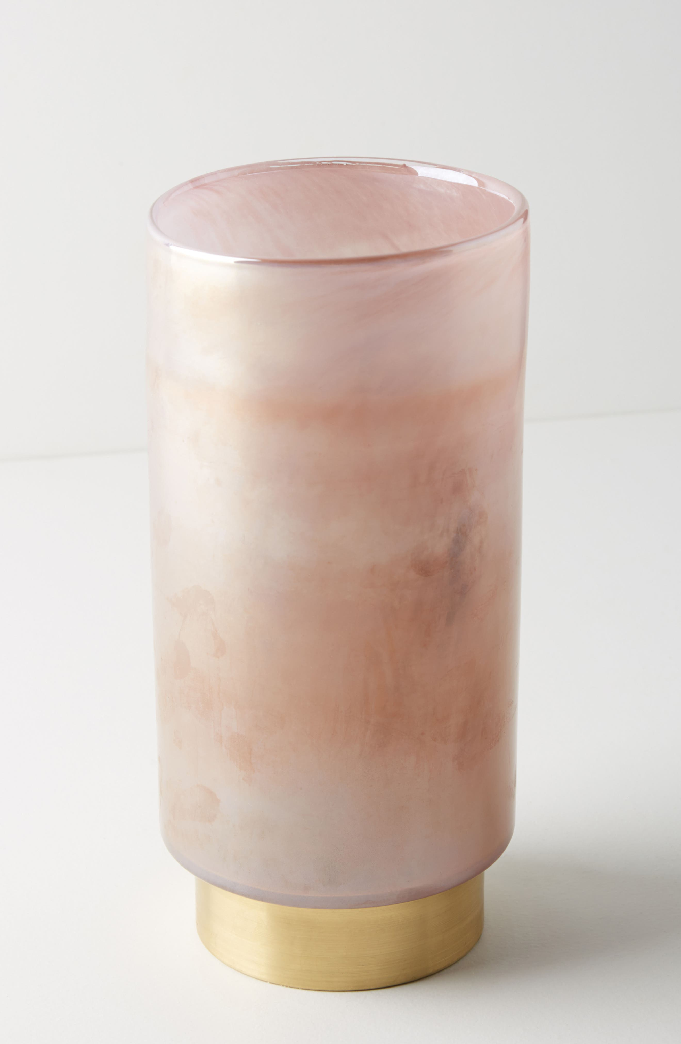 Gold-Cinched Hurricane Candleholder,                             Main thumbnail 1, color,                             Lilac