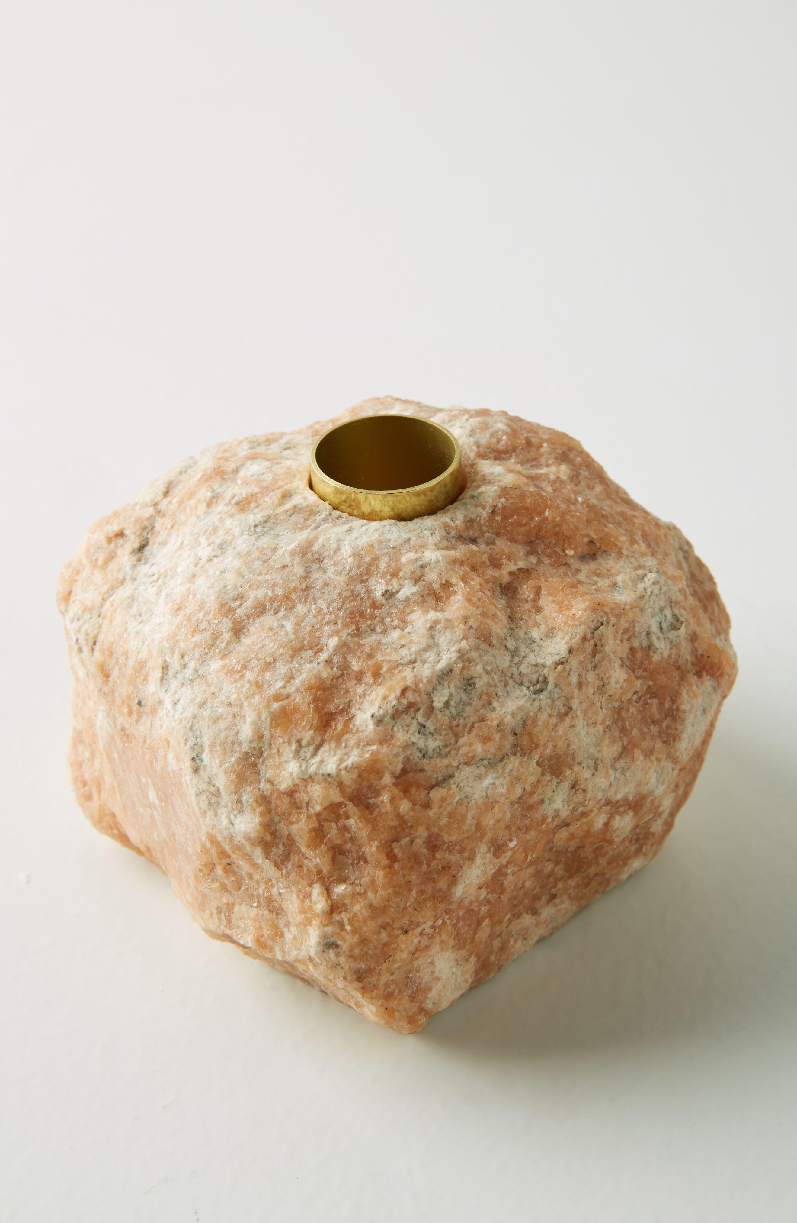 Anthropologie Stone Taper Candleholder