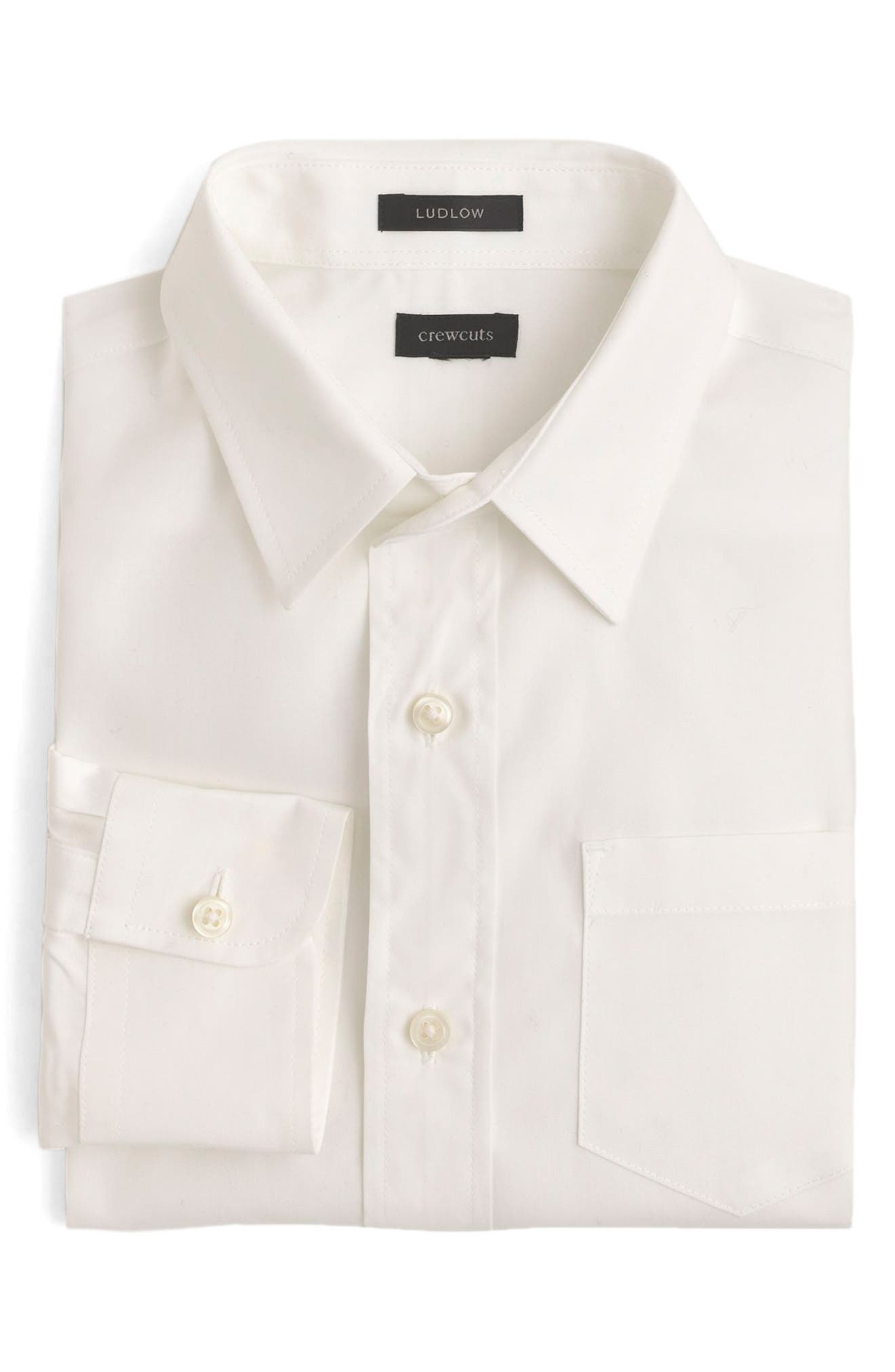Ludlow Dress Shirt,                         Main,                         color, White Wt0002