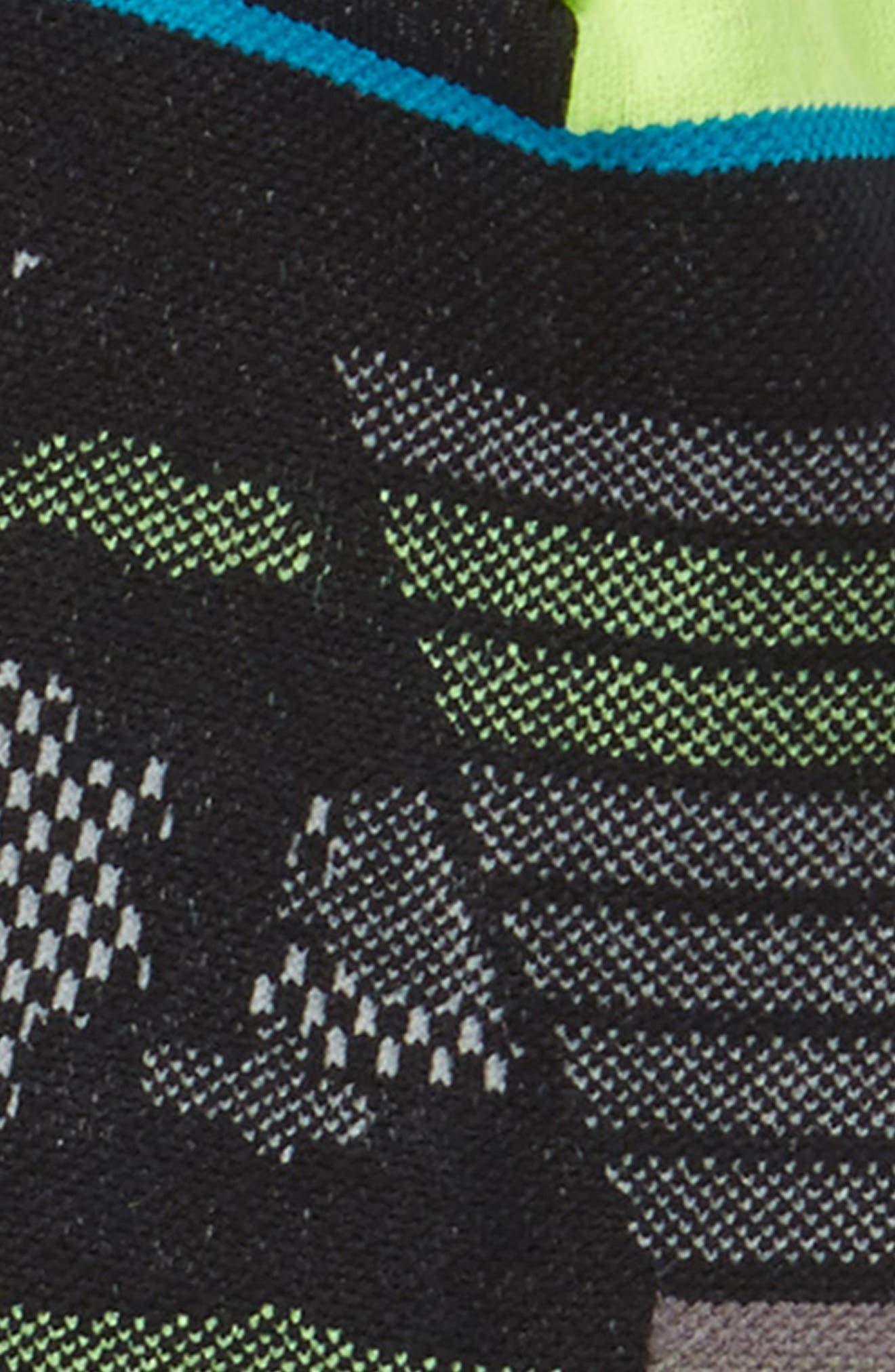 Night Light Tab Socks,                             Alternate thumbnail 2, color,                             Black