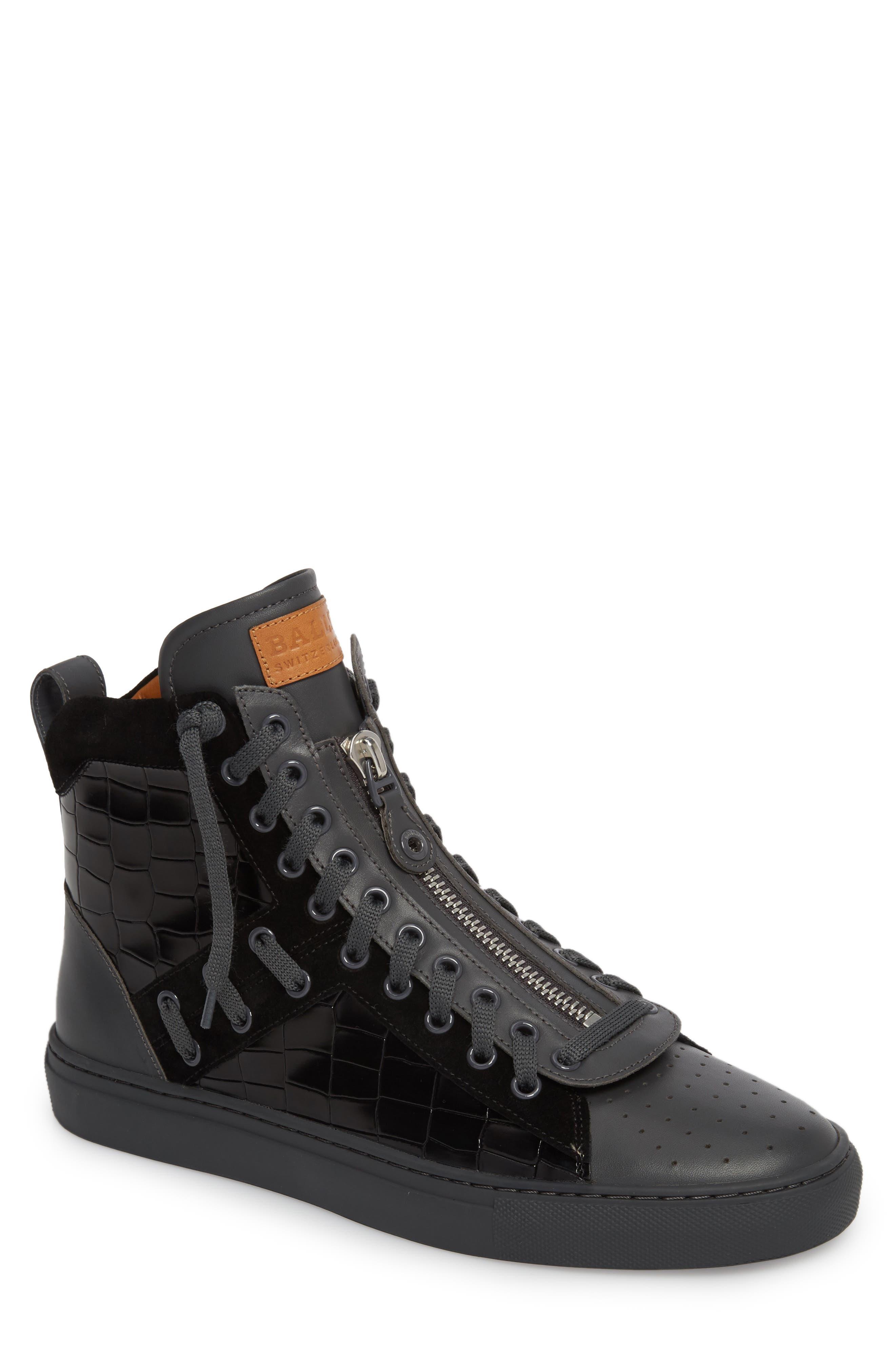 Hekem High-Top Sneaker,                             Main thumbnail 1, color,                             Black