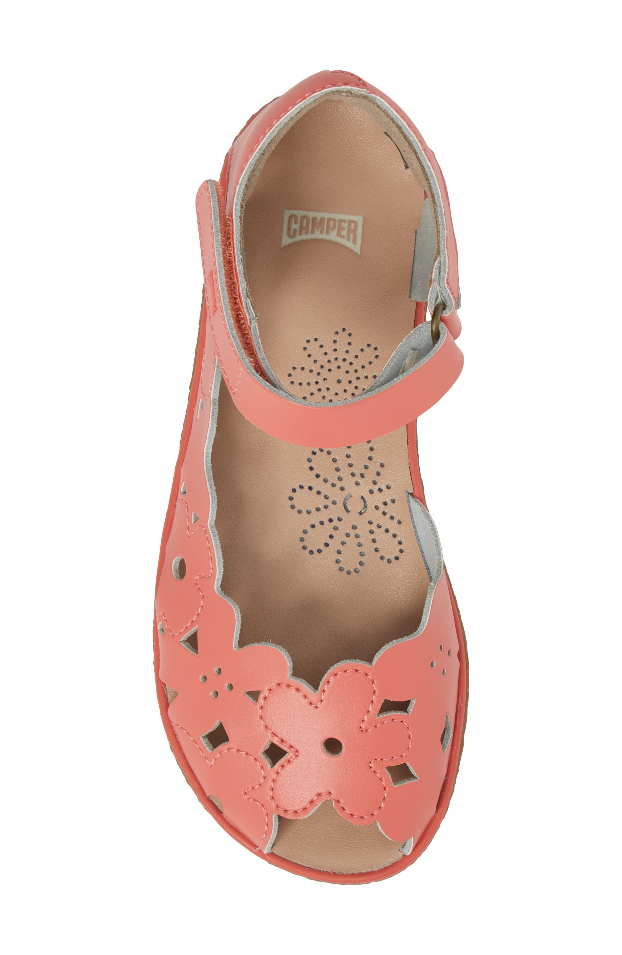 Twins Perforated Sandal,                             Alternate thumbnail 5, color,                             Pink