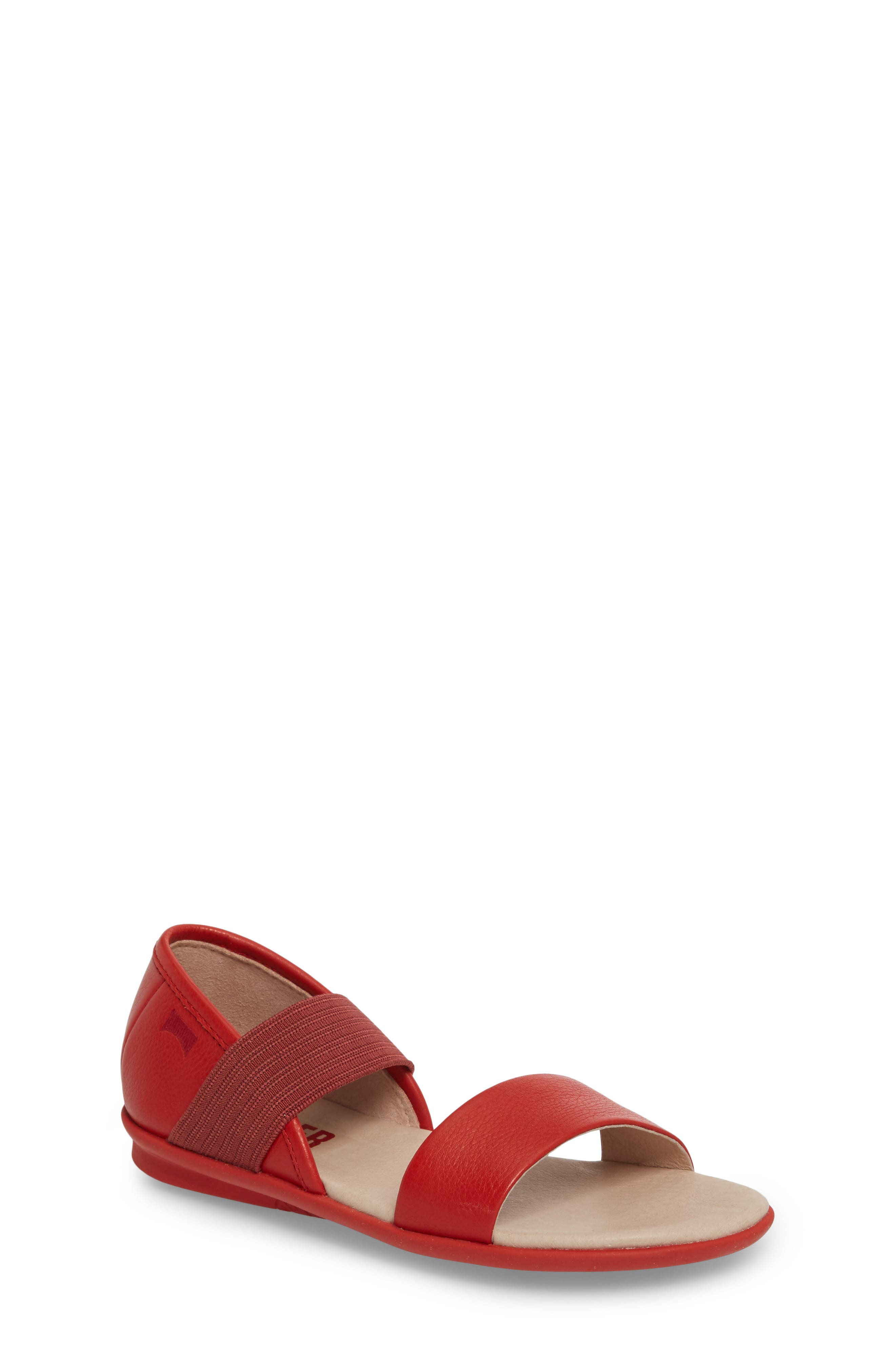 Right Sandal,                             Main thumbnail 1, color,                             Red