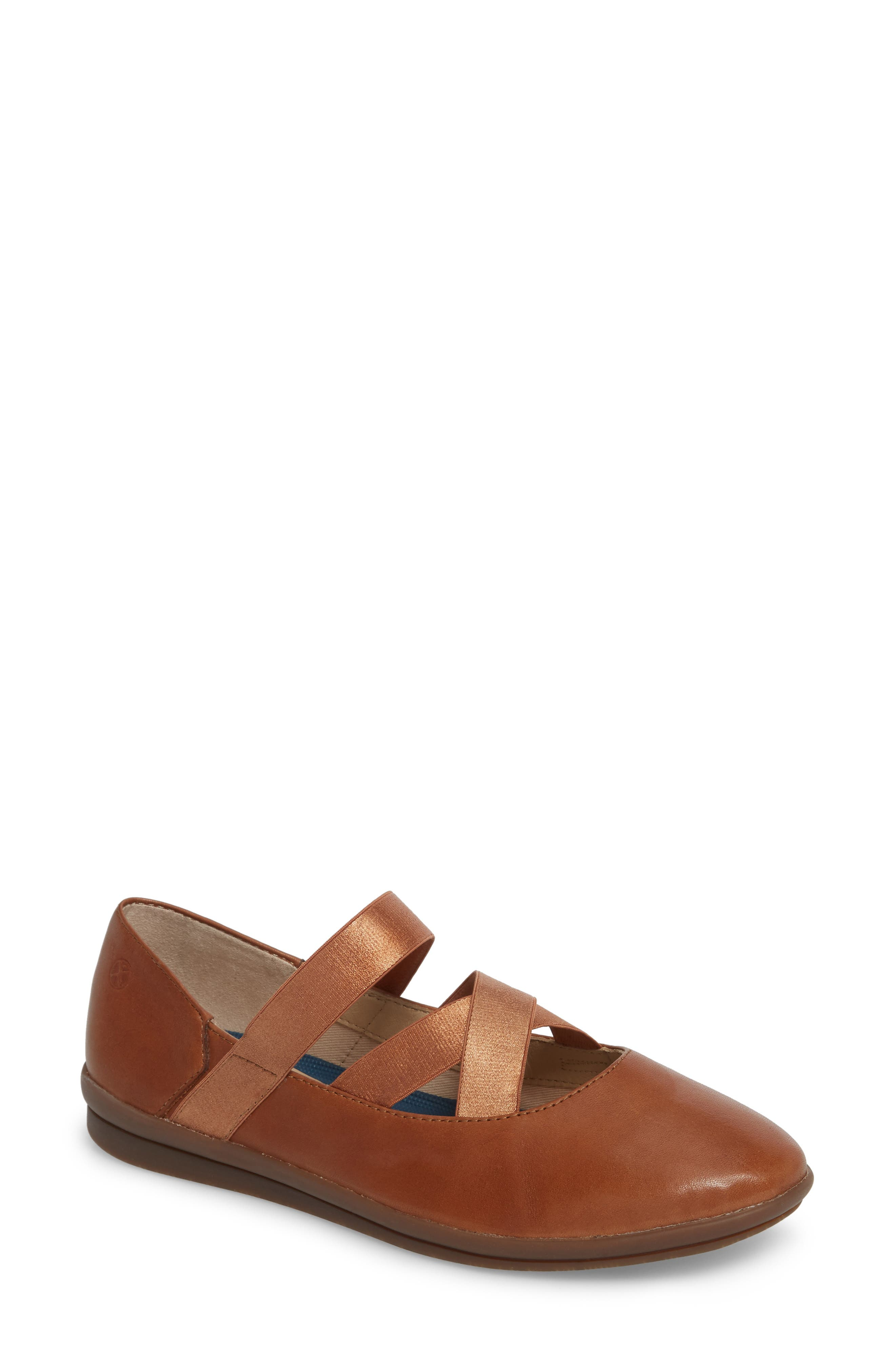 Main Image - Hush Puppies® Meree Madrine Cross Strap Flat (Women)