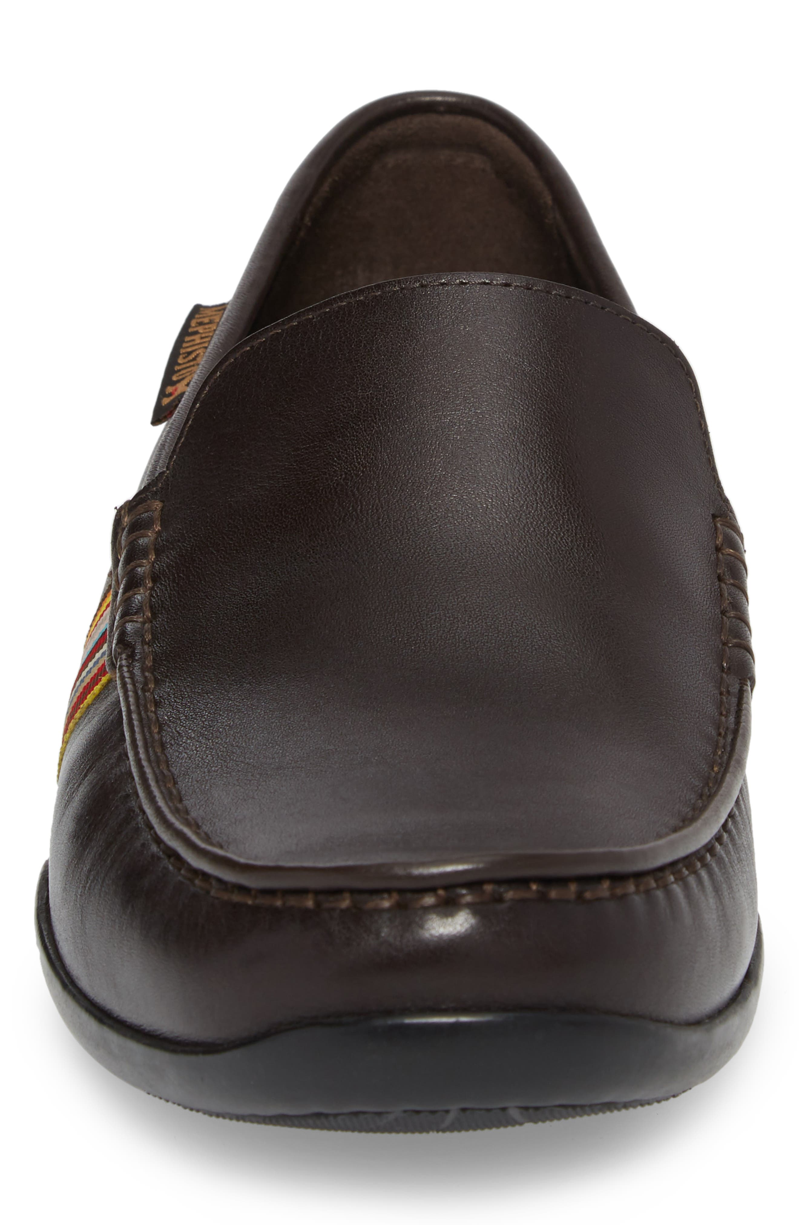 Idris Banded Loafer,                             Alternate thumbnail 4, color,                             Dark Brown Leather