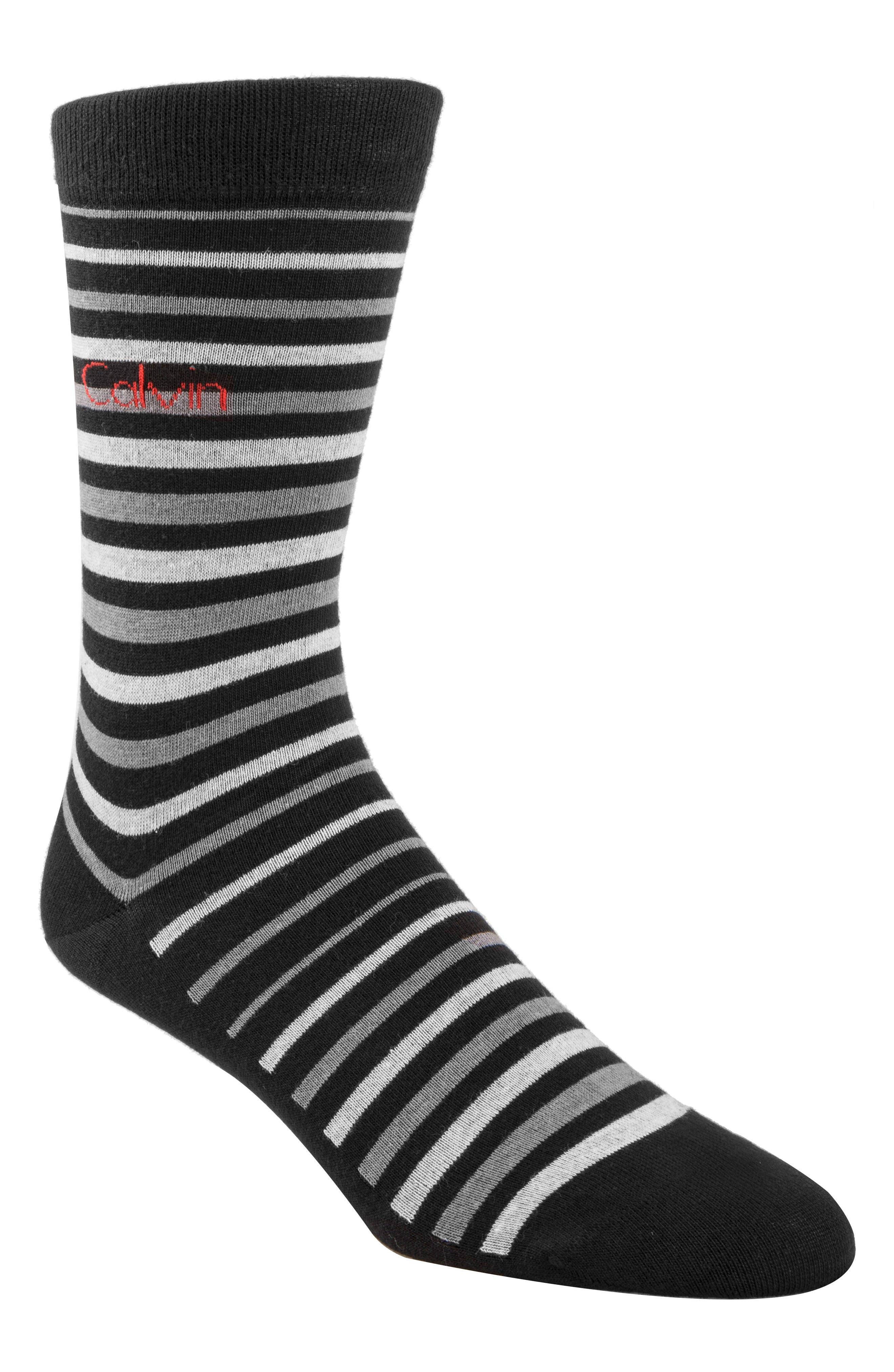 Stripe Socks,                         Main,                         color, Black