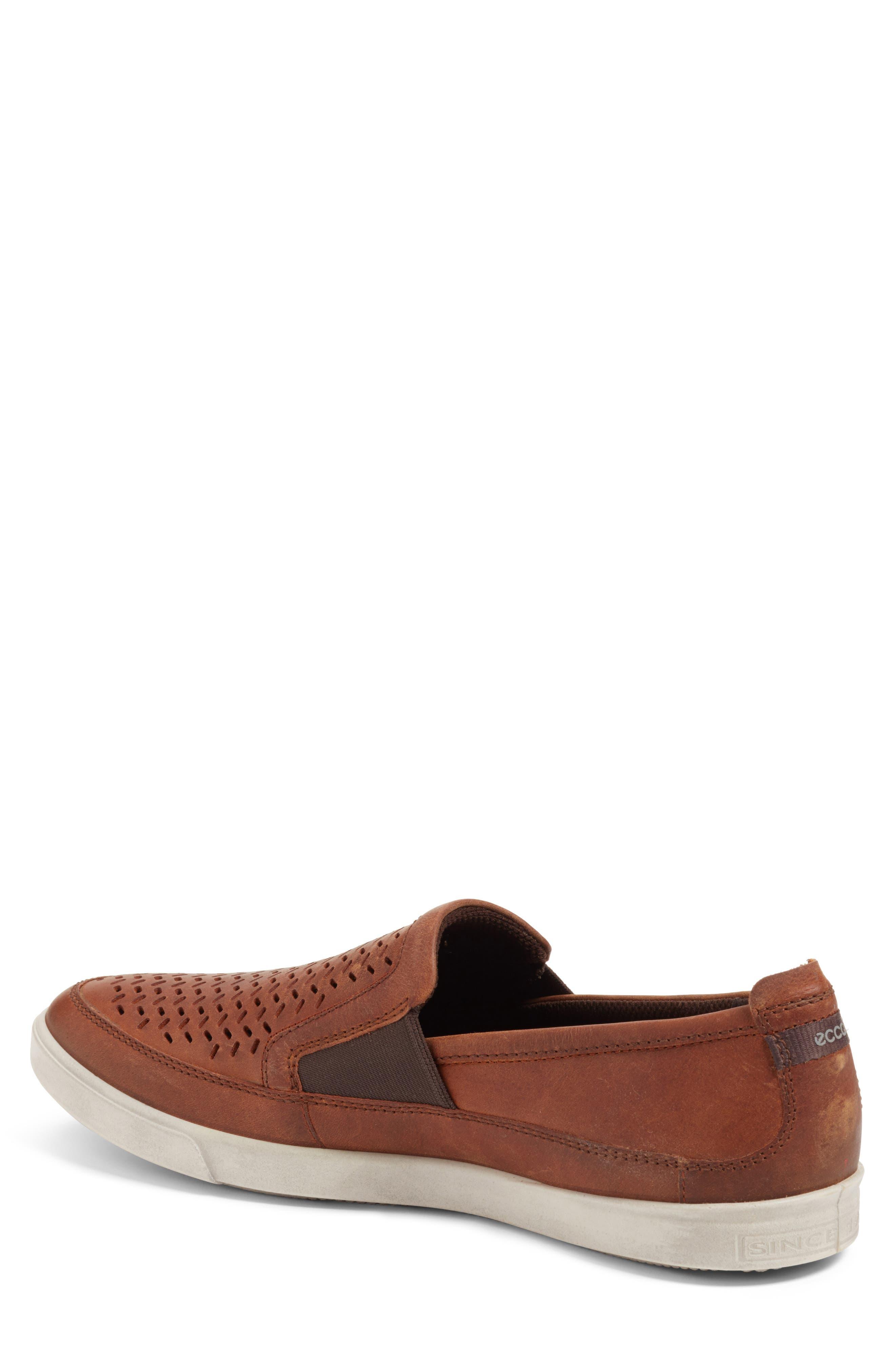 Alternate Image 2  - ECCO 'Collin' Perforated Slip On Sneaker (Men)