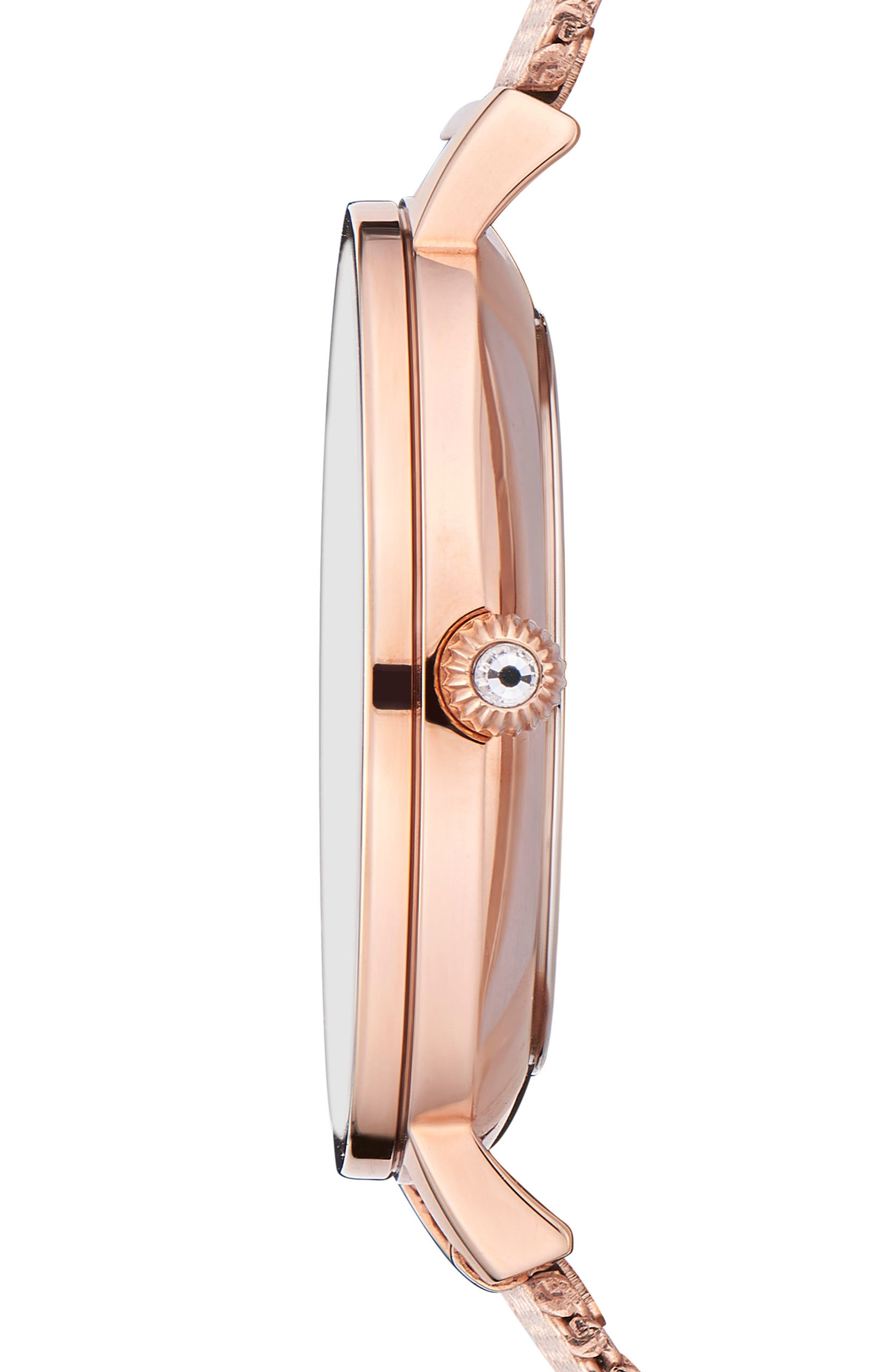 Kate Mesh Strap Watch, 32mm,                             Alternate thumbnail 2, color,                             Rose Gold/ Printed/ Rose Gold
