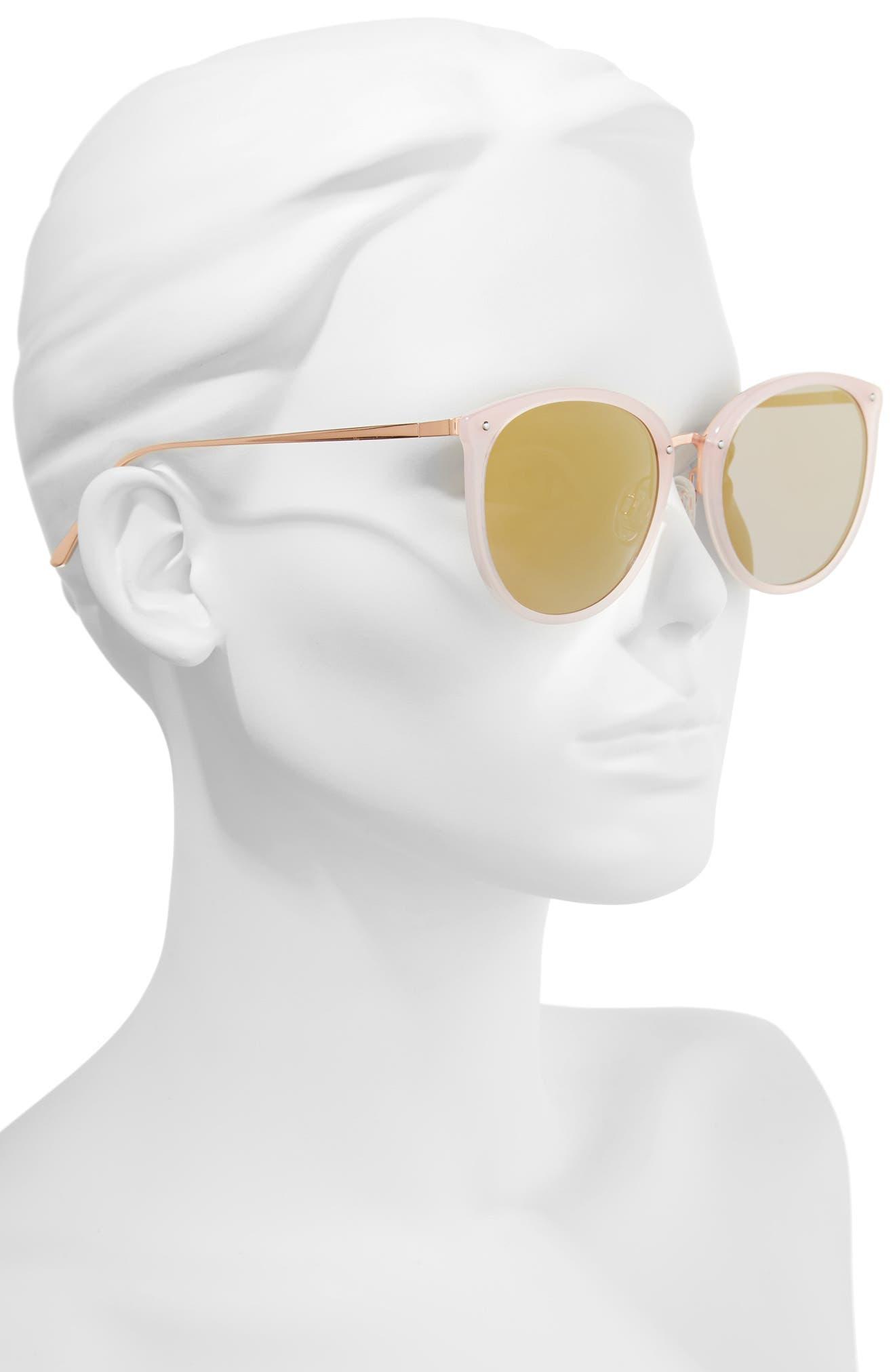 Key Largo 57mm Sunglasses,                             Alternate thumbnail 2, color,                             Milky Pink