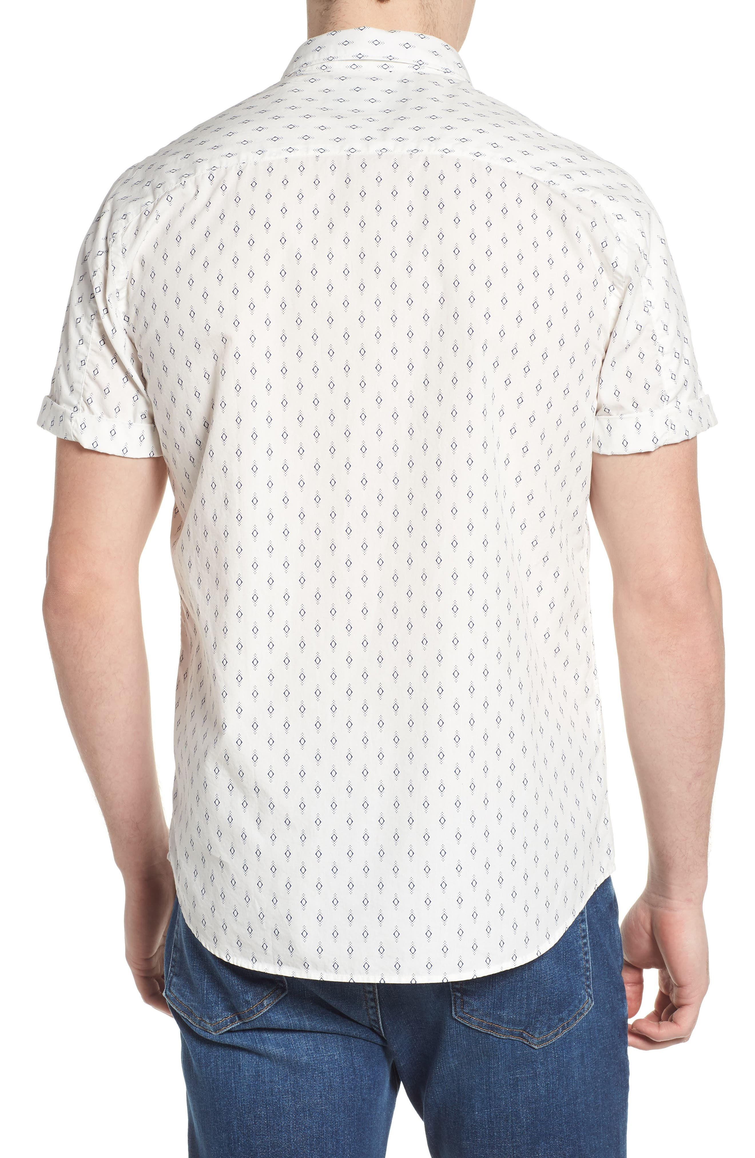 Classic Fit Print Woven Shirt,                             Alternate thumbnail 3, color,                             Combo B