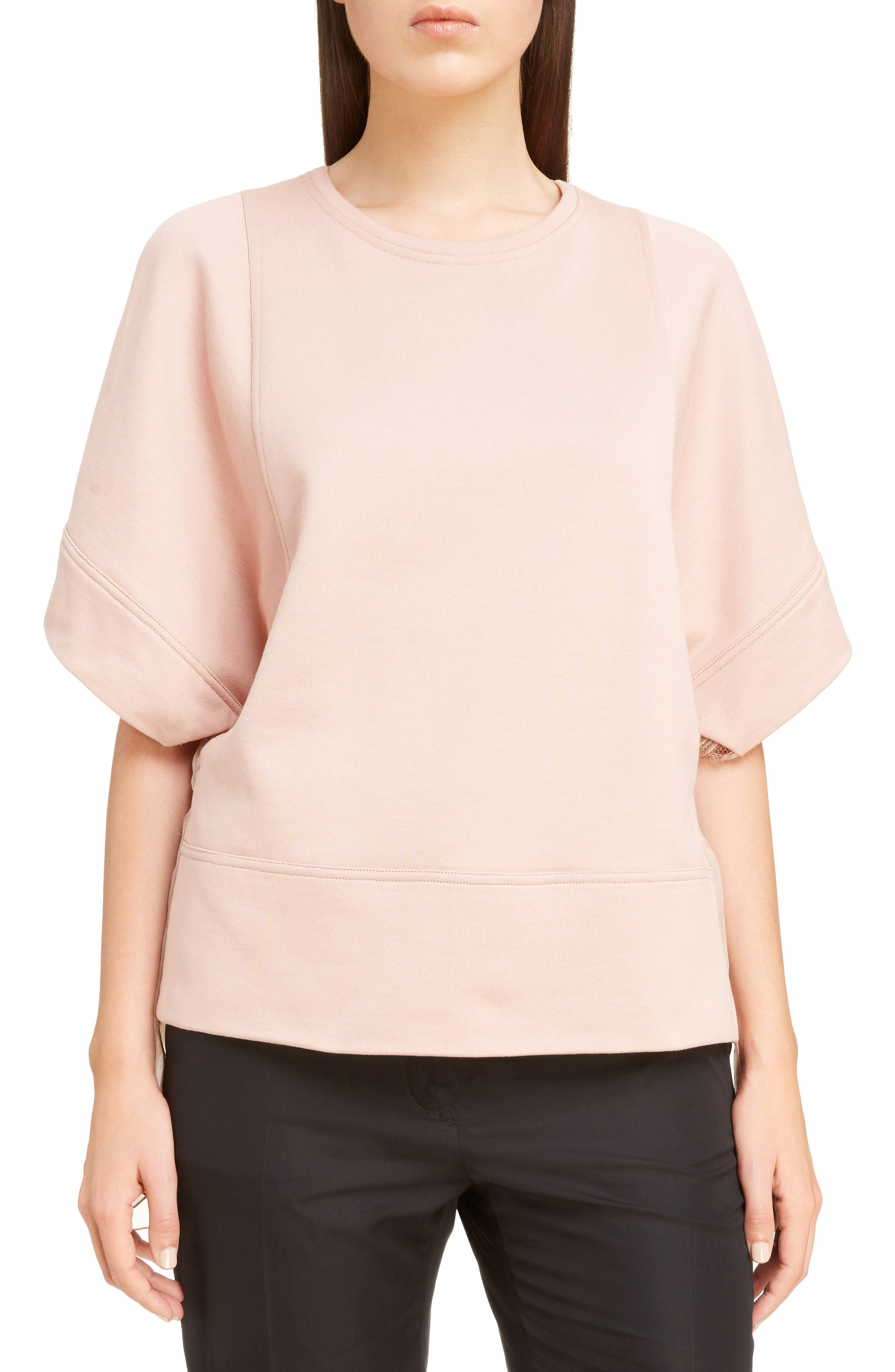 Nº21 Chiffon Back Sweatshirt,                         Main,                         color, Nudo