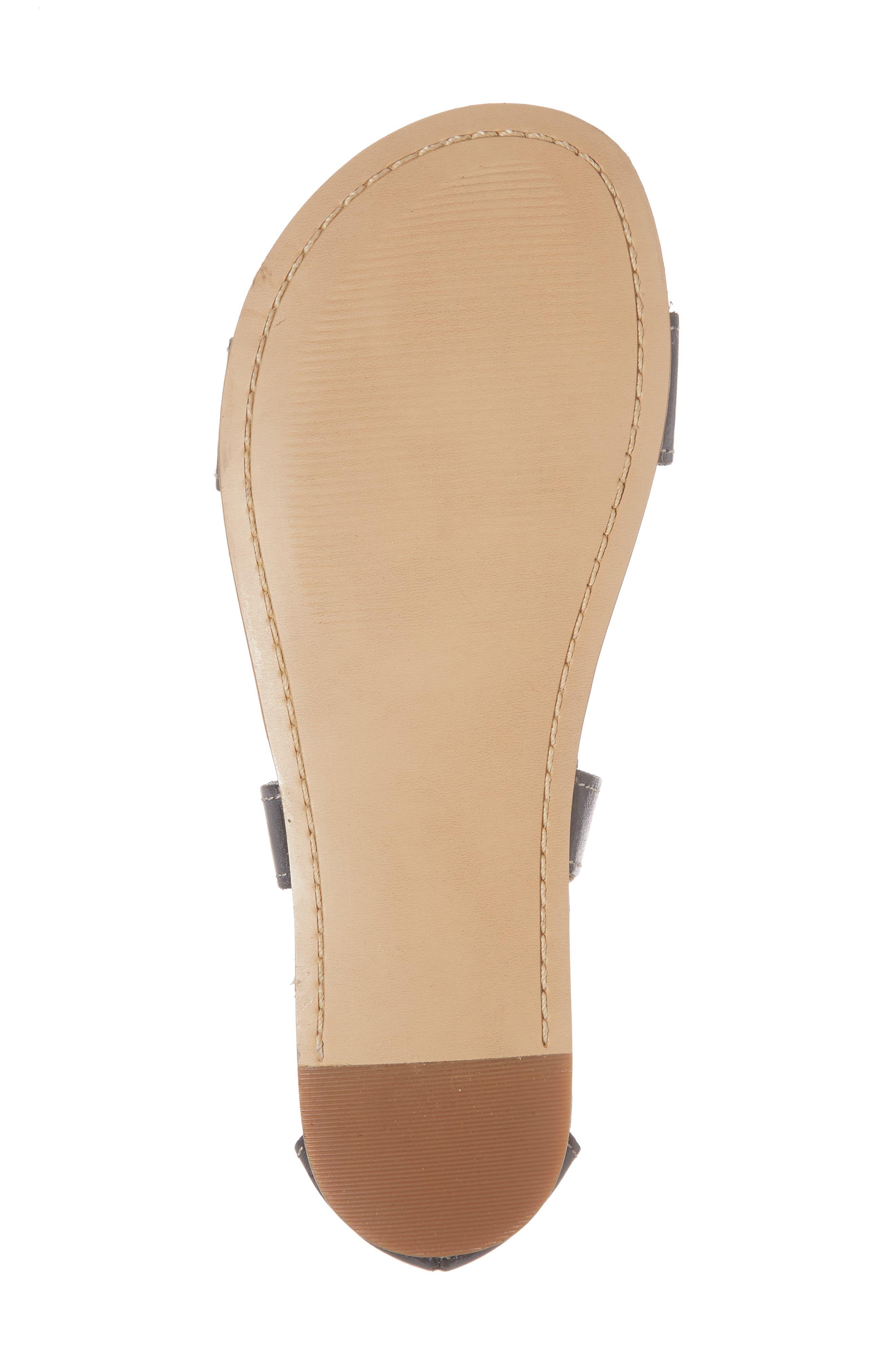 Jocelyn T-Strap Flat Sandal,                             Alternate thumbnail 6, color,                             Sydney Black