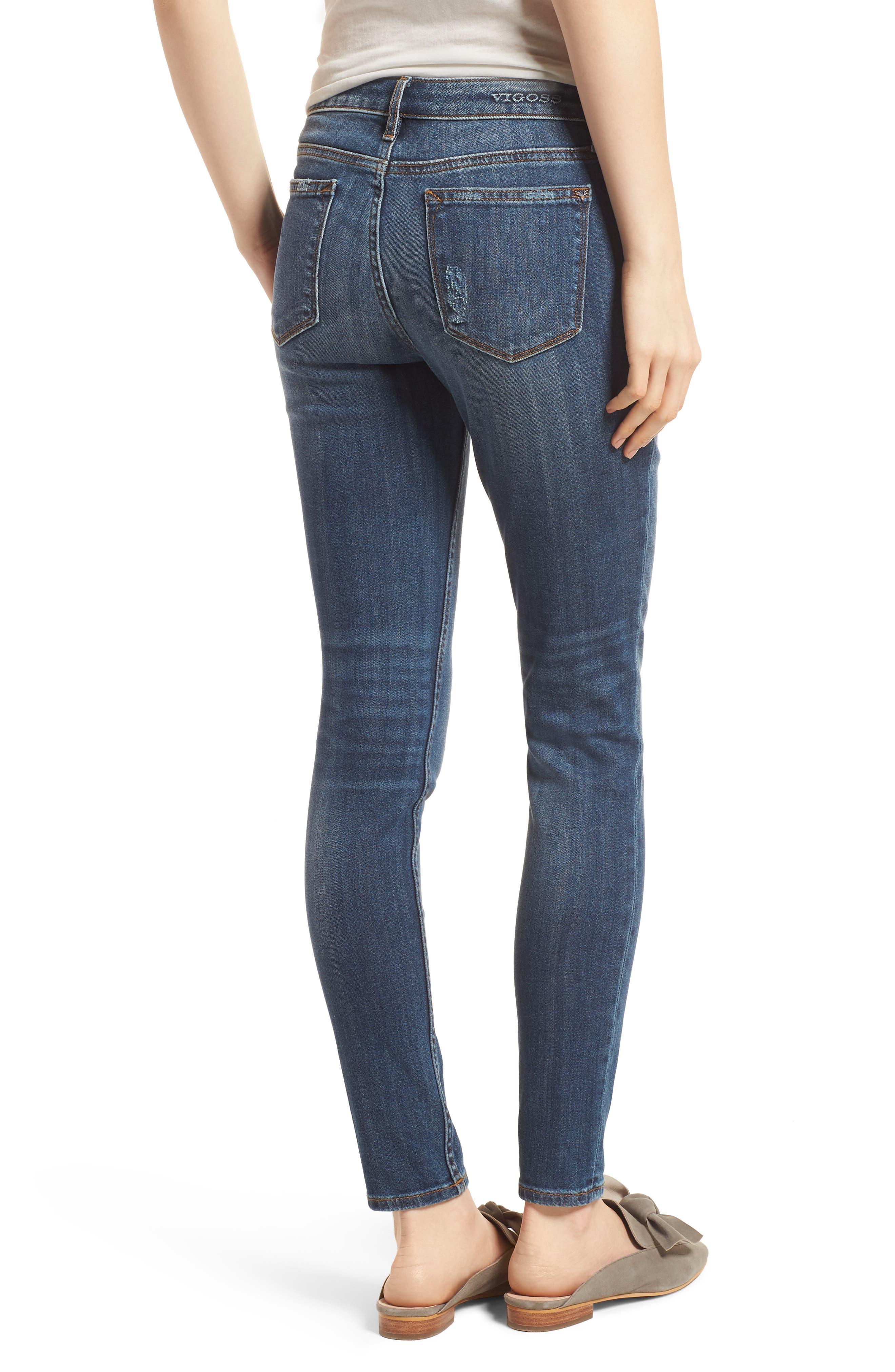 Jagger Skinny Jeans,                             Alternate thumbnail 2, color,                             Medium Wash
