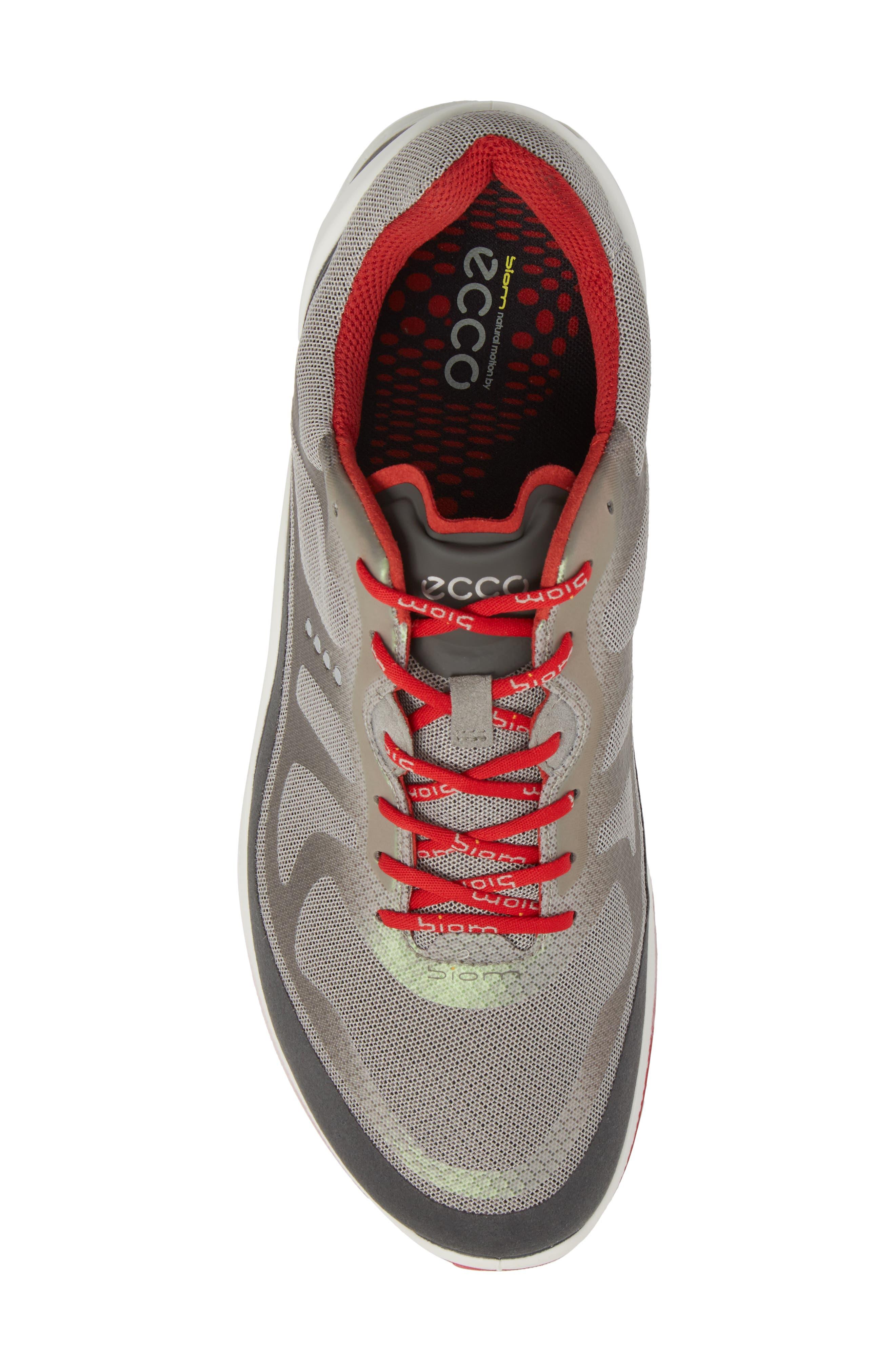 BIOM Fjuel Tie Sneaker,                             Alternate thumbnail 5, color,                             Dark Shadow/ Wild Dove Textile