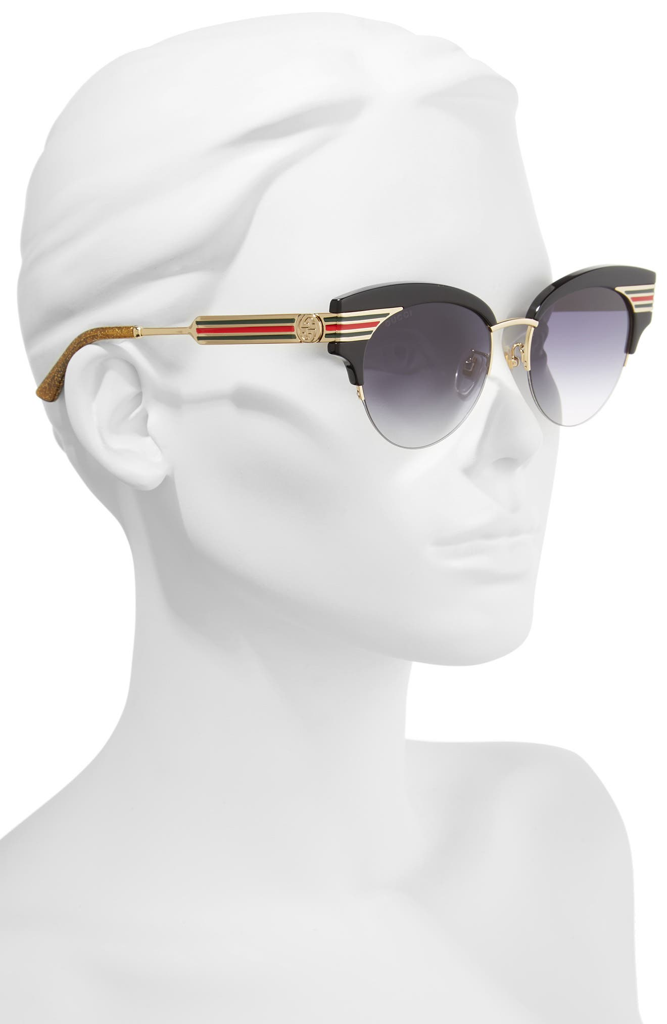 53mm Cat Eye Sunglasses,                             Alternate thumbnail 2, color,                             Gold