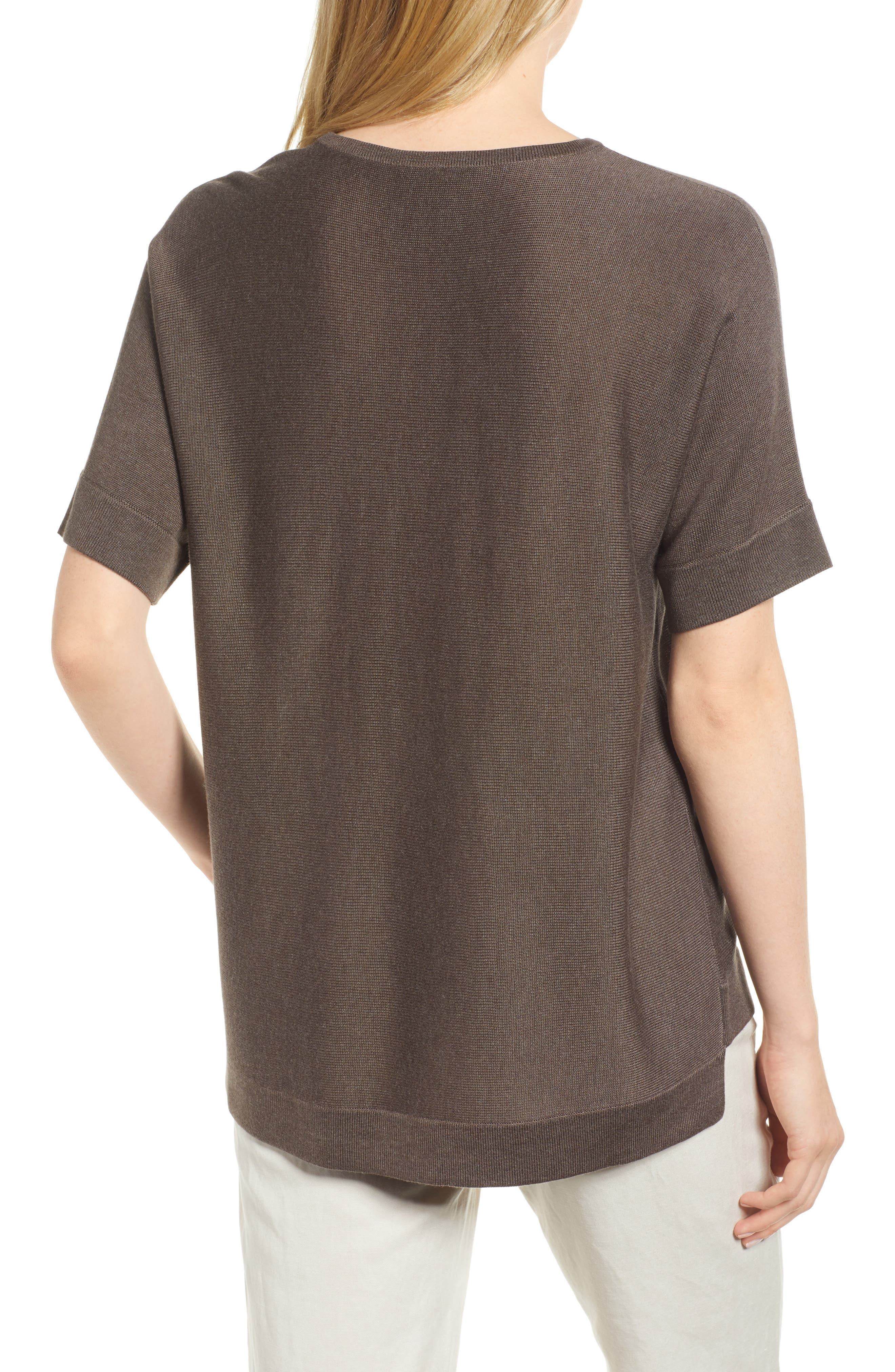 Round Neck Top,                             Alternate thumbnail 2, color,                             Rye