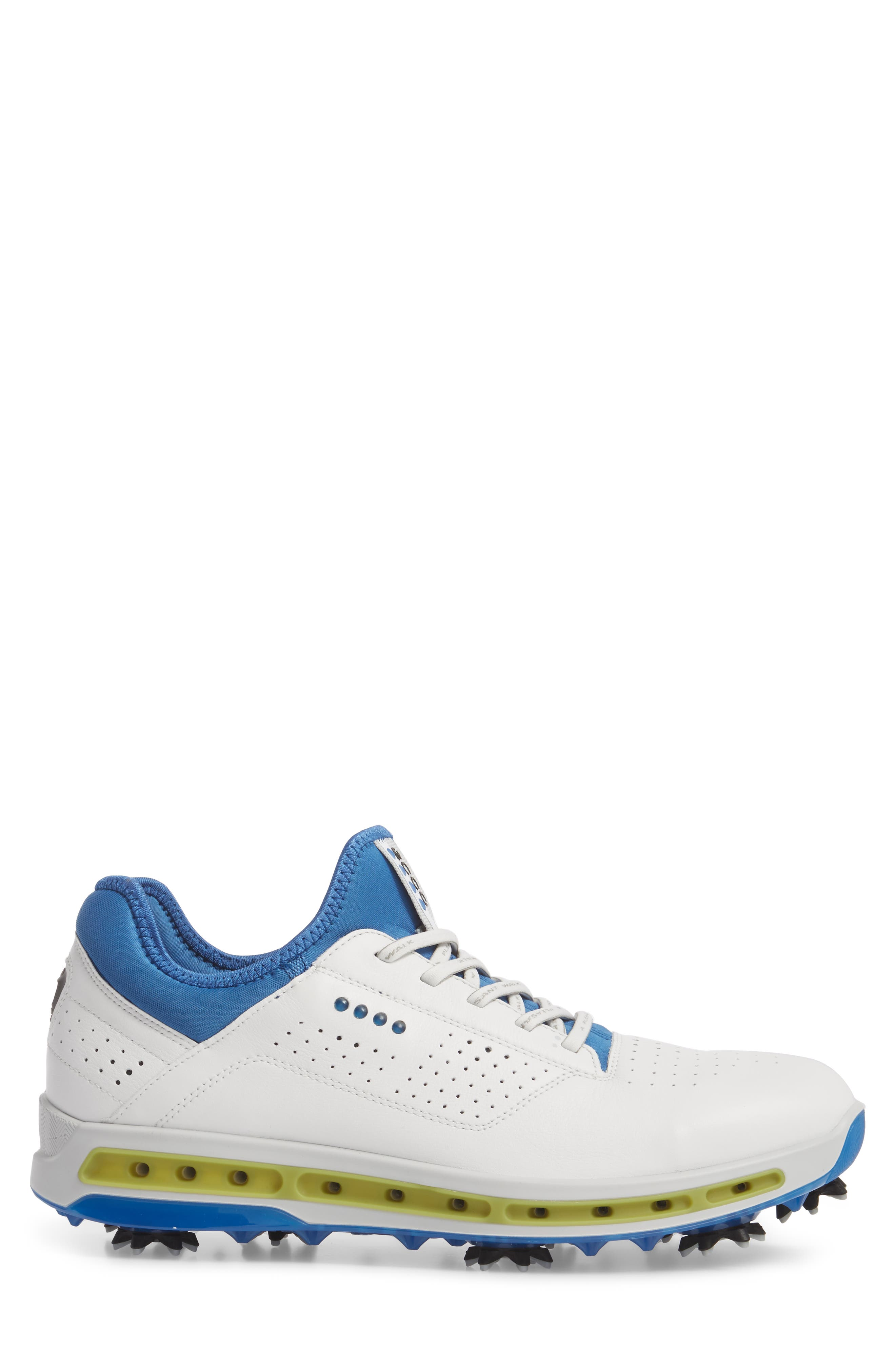 Cool 18 Gore-Tex Golf Shoe,                             Alternate thumbnail 3, color,                             White Leather