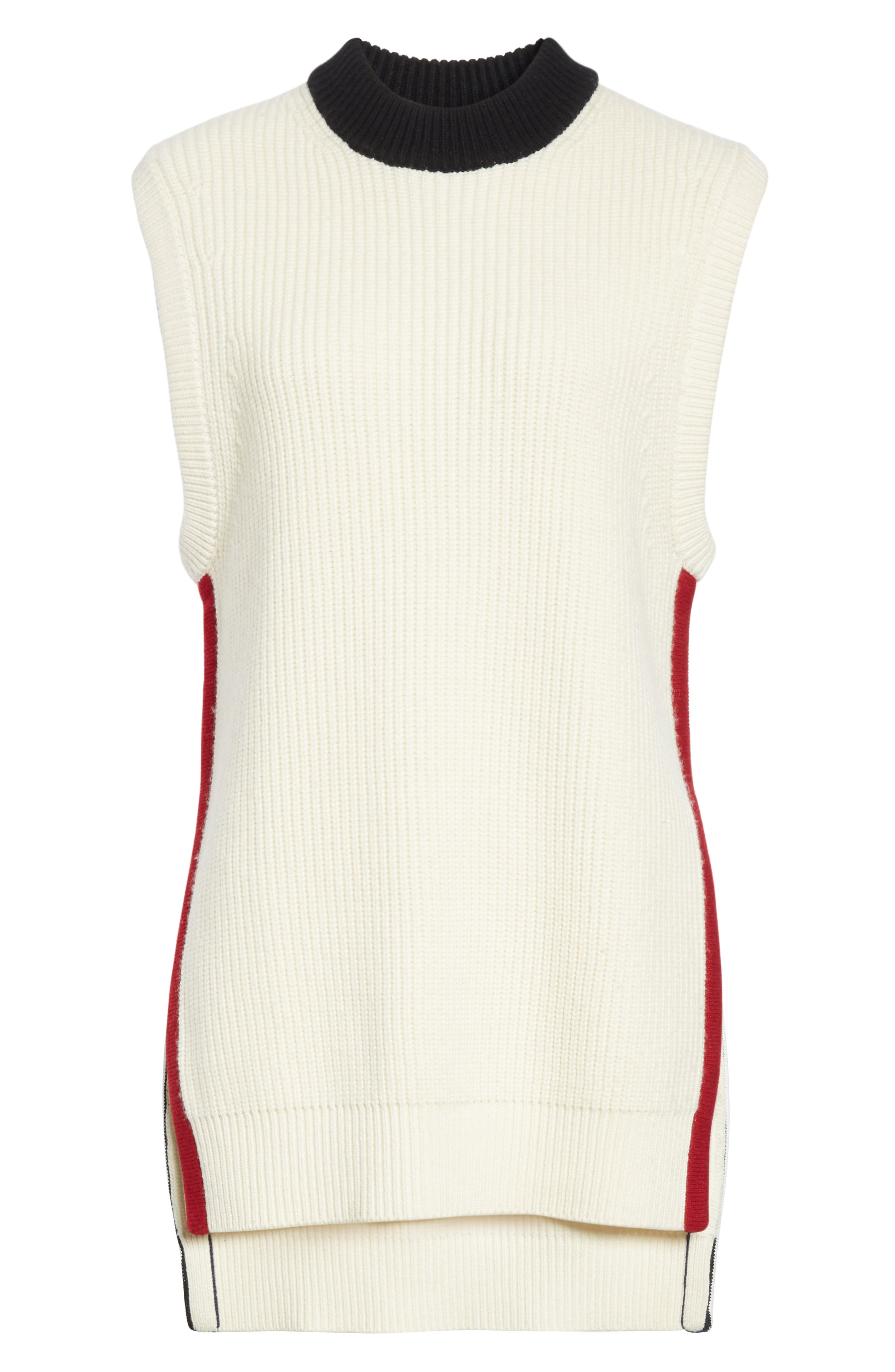 Knox 55 Wool & Cashmere Sweater,                             Alternate thumbnail 5, color,                             Natural White