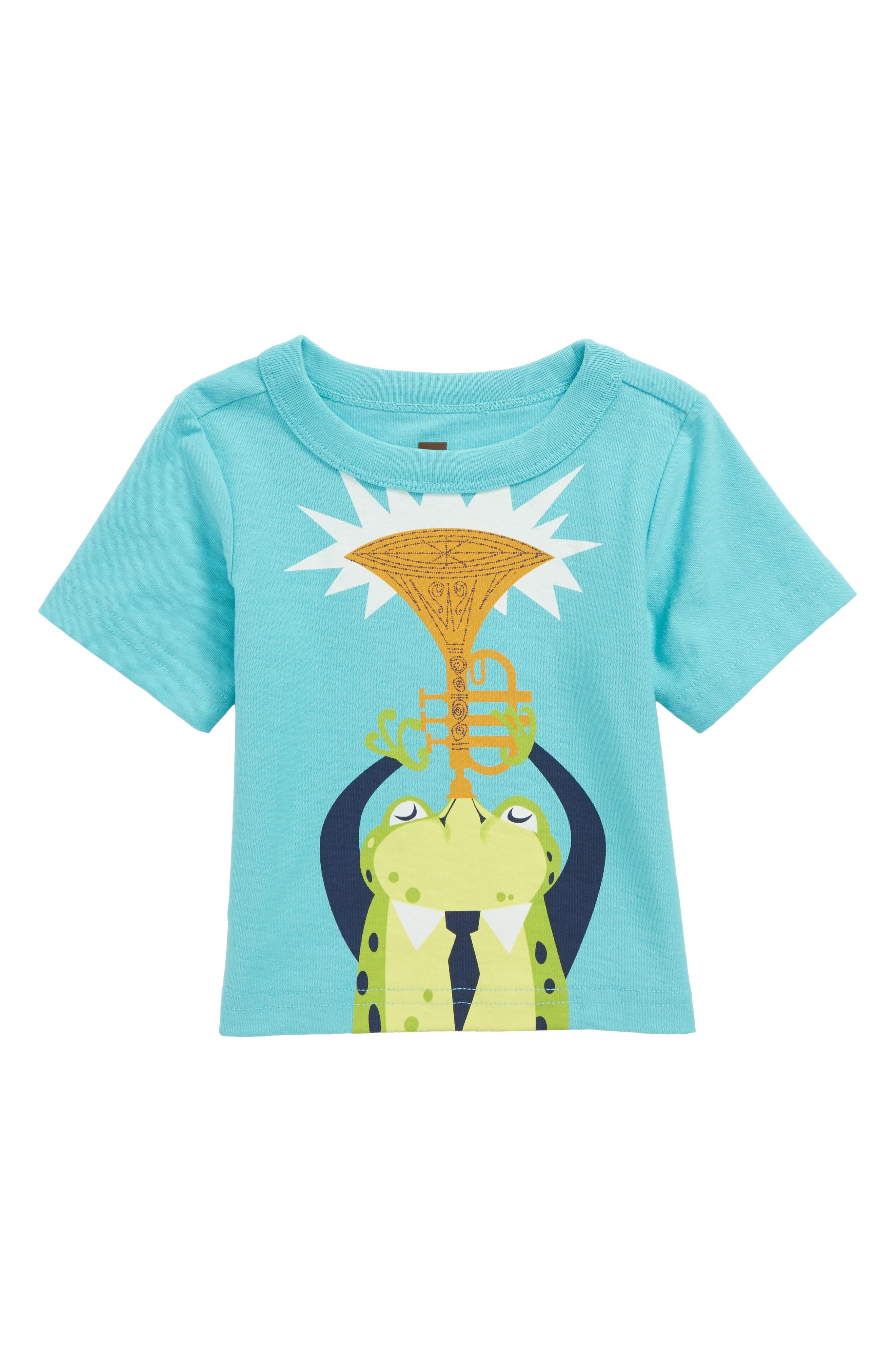 Jazz Frog T-Shirt,                             Main thumbnail 1, color,                             Ciel