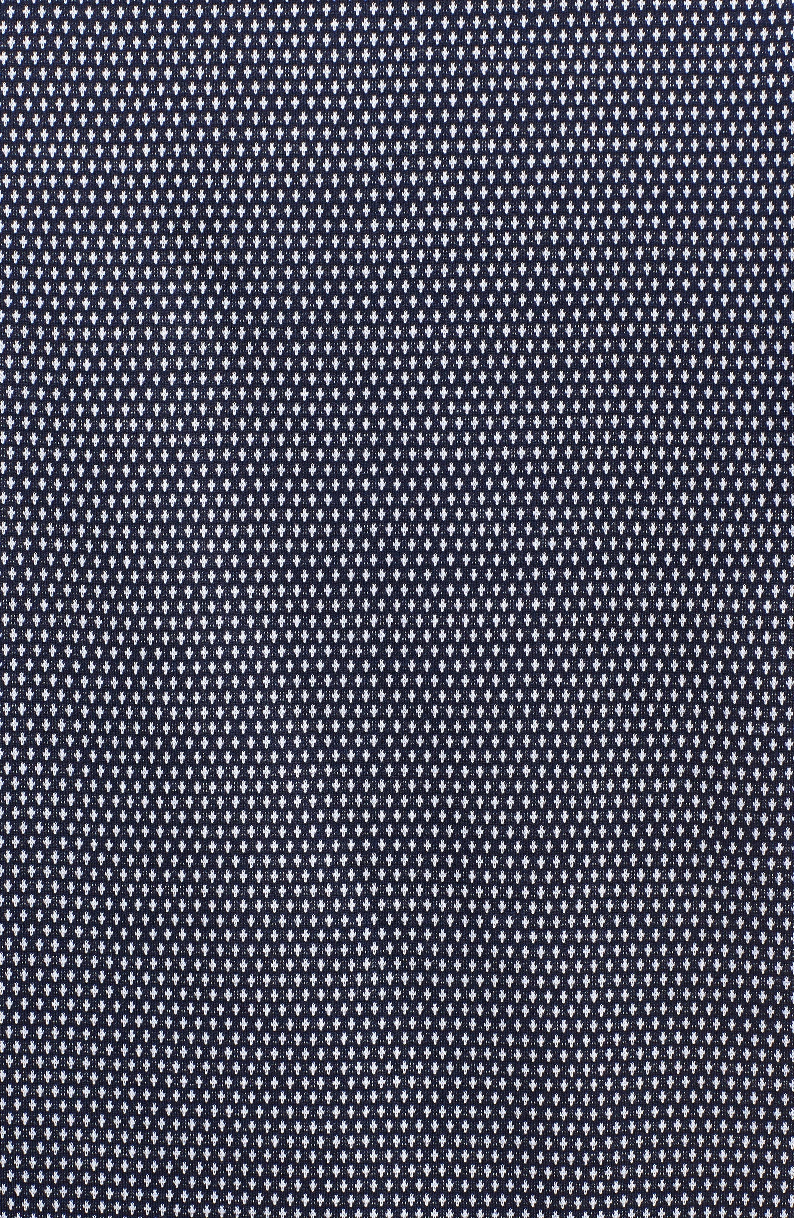 Regular Fit Knit Polo,                             Alternate thumbnail 5, color,                             Navy