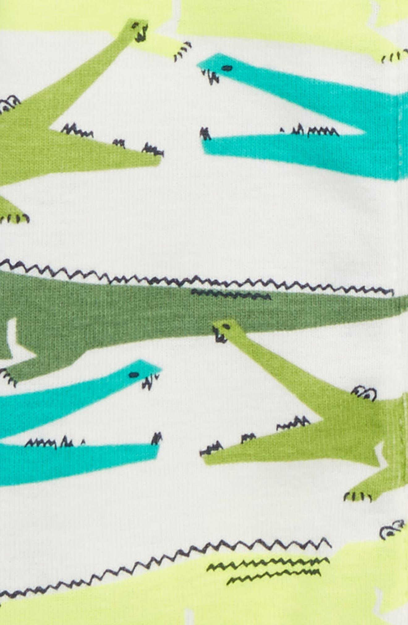 Alligator Fitted One-Piece Pajamas,                             Alternate thumbnail 2, color,                             Alligators