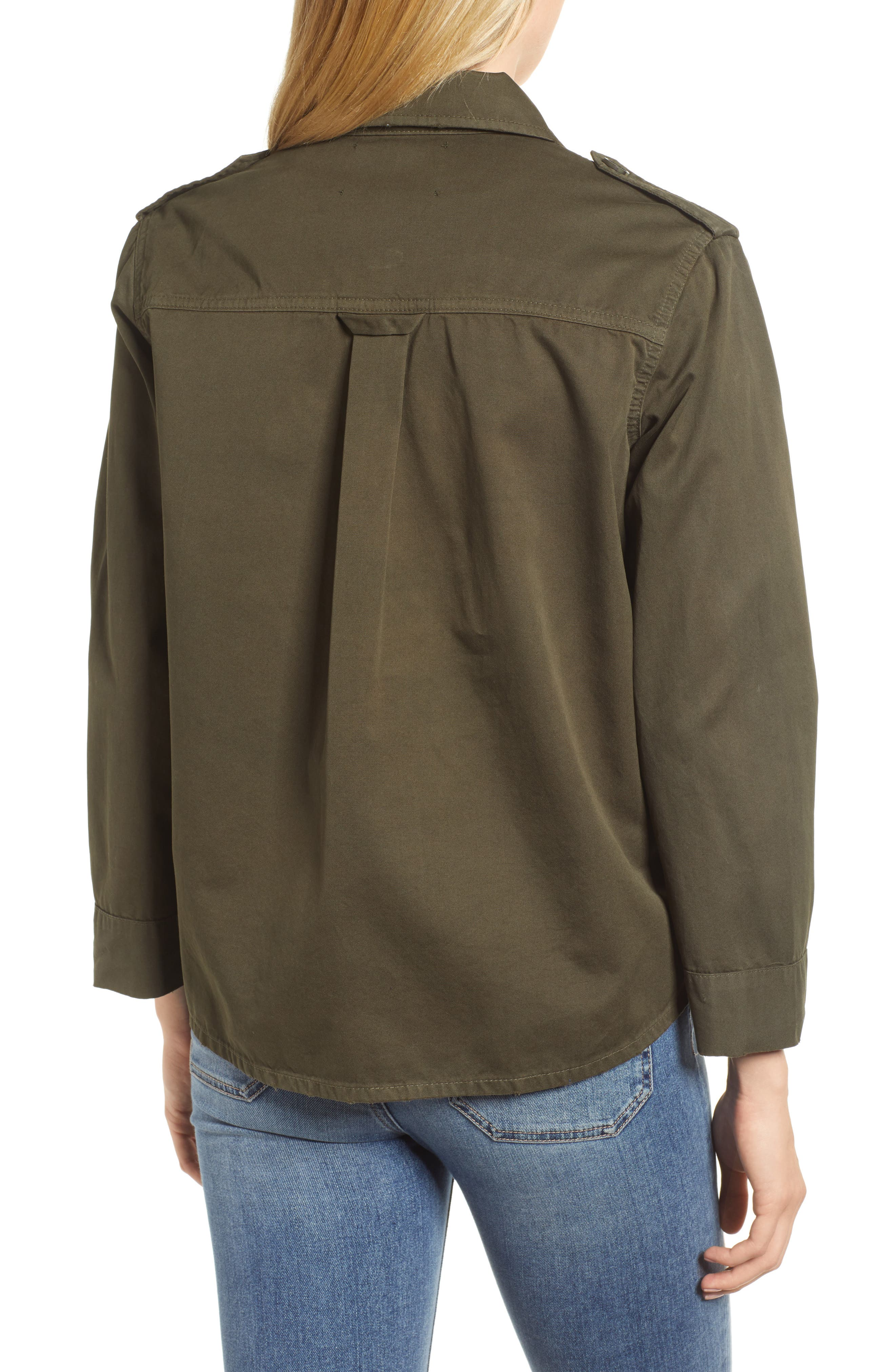 Workwear Cotton Jacket,                             Alternate thumbnail 2, color,                             Army