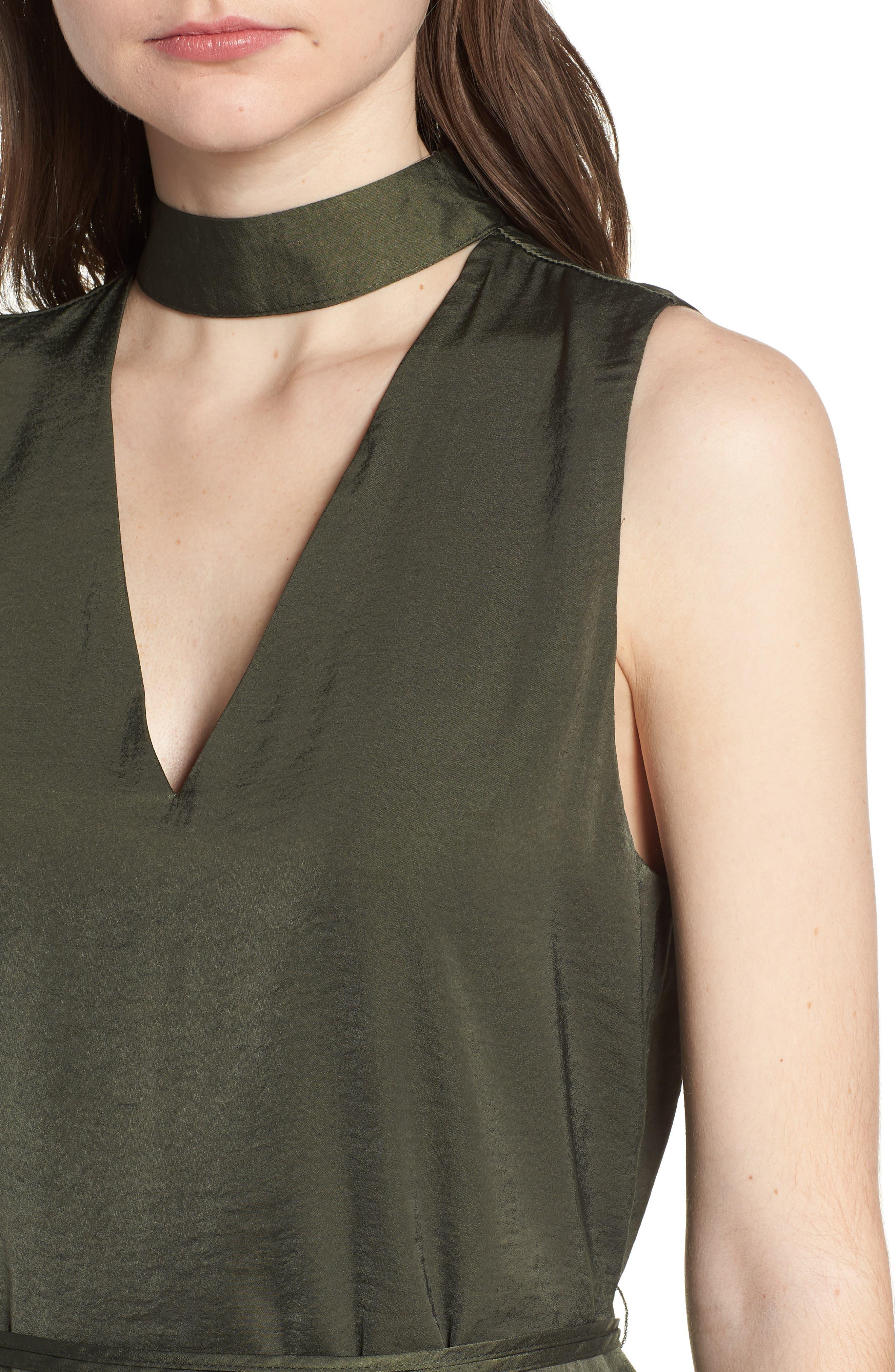 Hansel Sleeveless Dress,                             Alternate thumbnail 4, color,                             Army