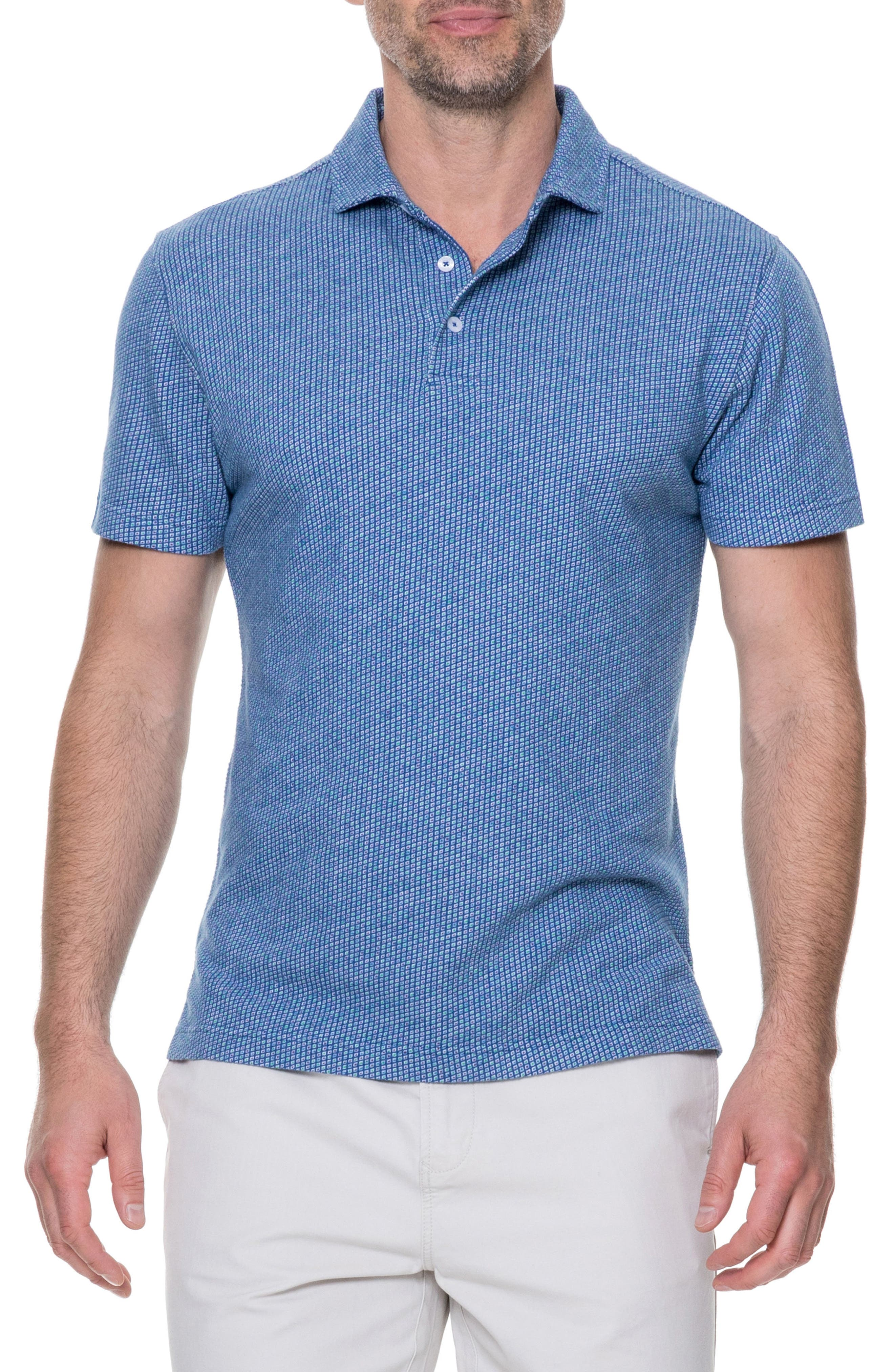 Thoms Bay Sports Fit Polo,                         Main,                         color, Royal