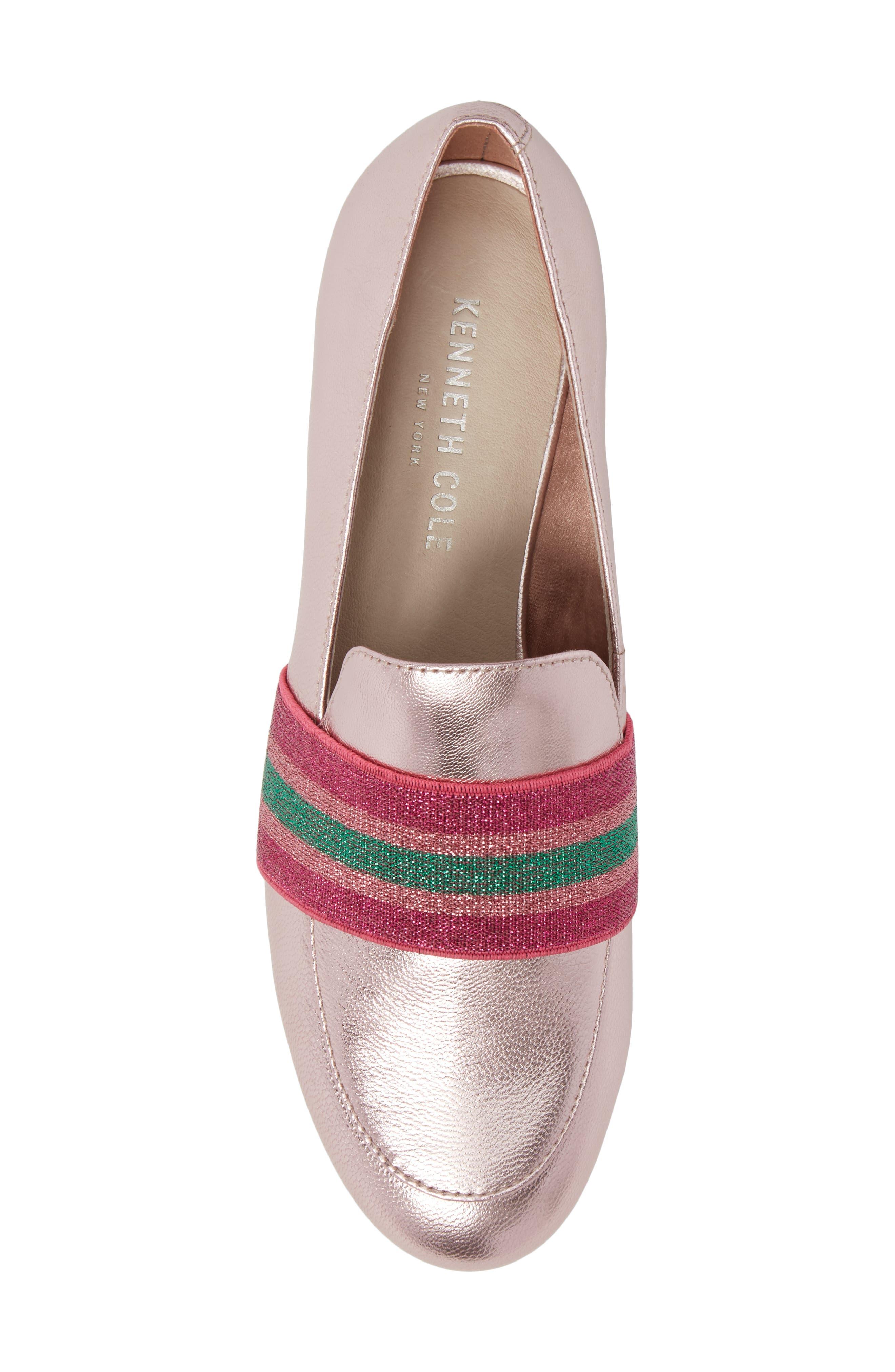 Walden Loafer,                             Alternate thumbnail 5, color,                             Pink Metallic Leather