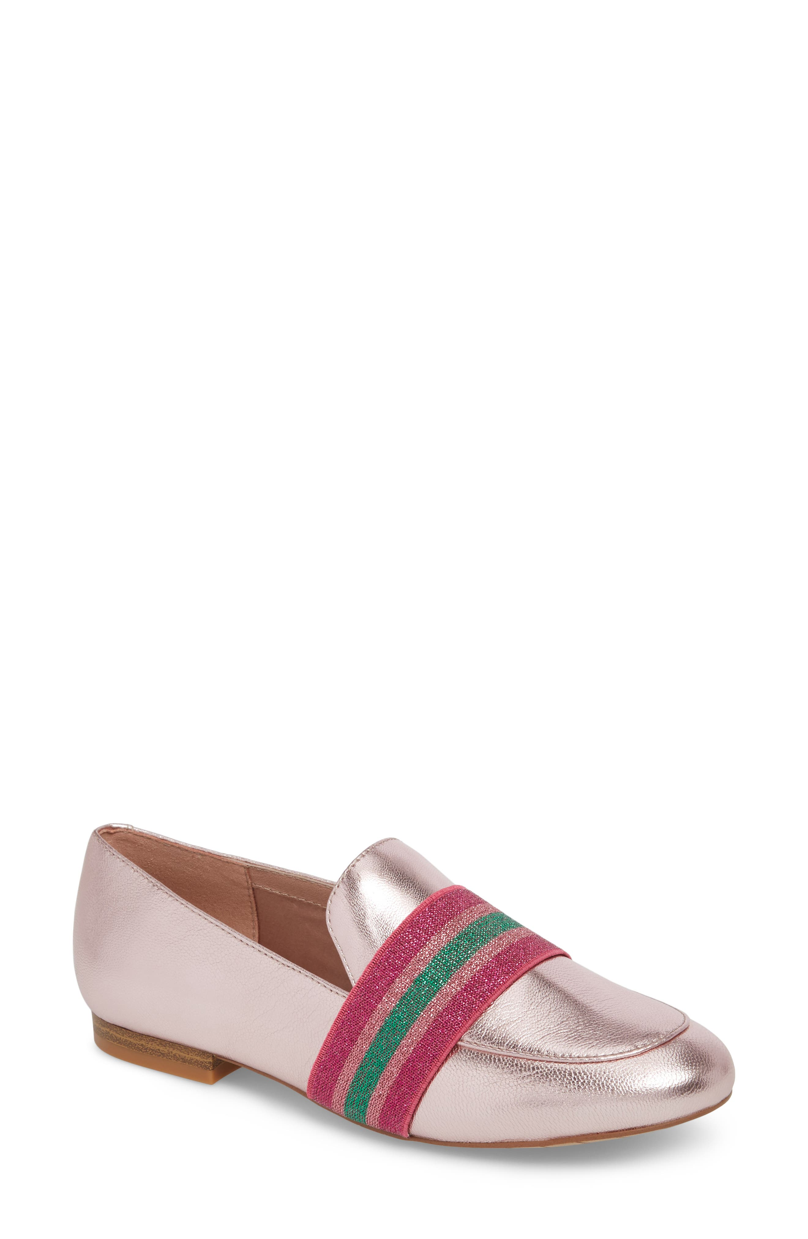 Walden Loafer,                             Main thumbnail 1, color,                             Pink Metallic Leather