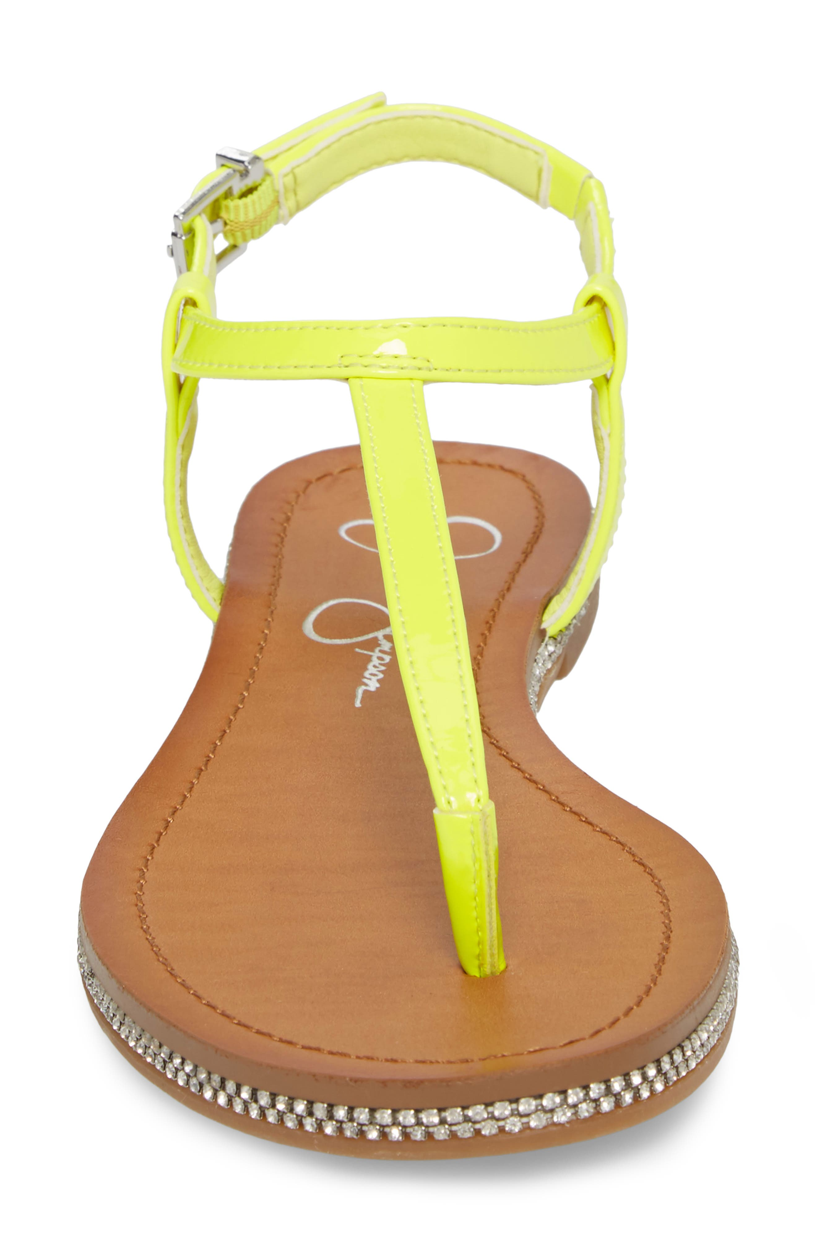 Brimah Sandal,                             Alternate thumbnail 4, color,                             Yellow Shock