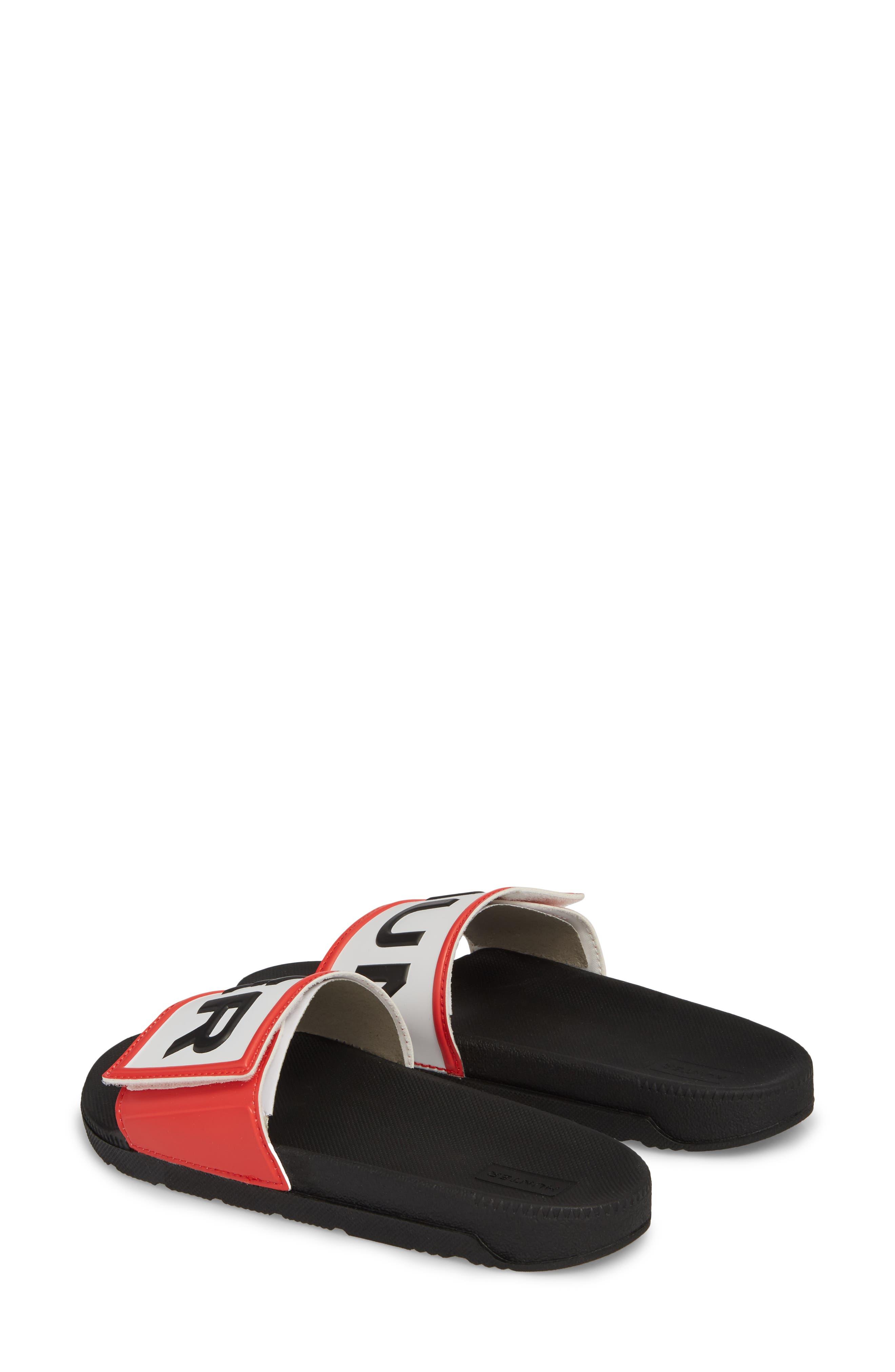 Original Adjustable Logo Slide Sandal,                             Alternate thumbnail 3, color,                             Black/ Black