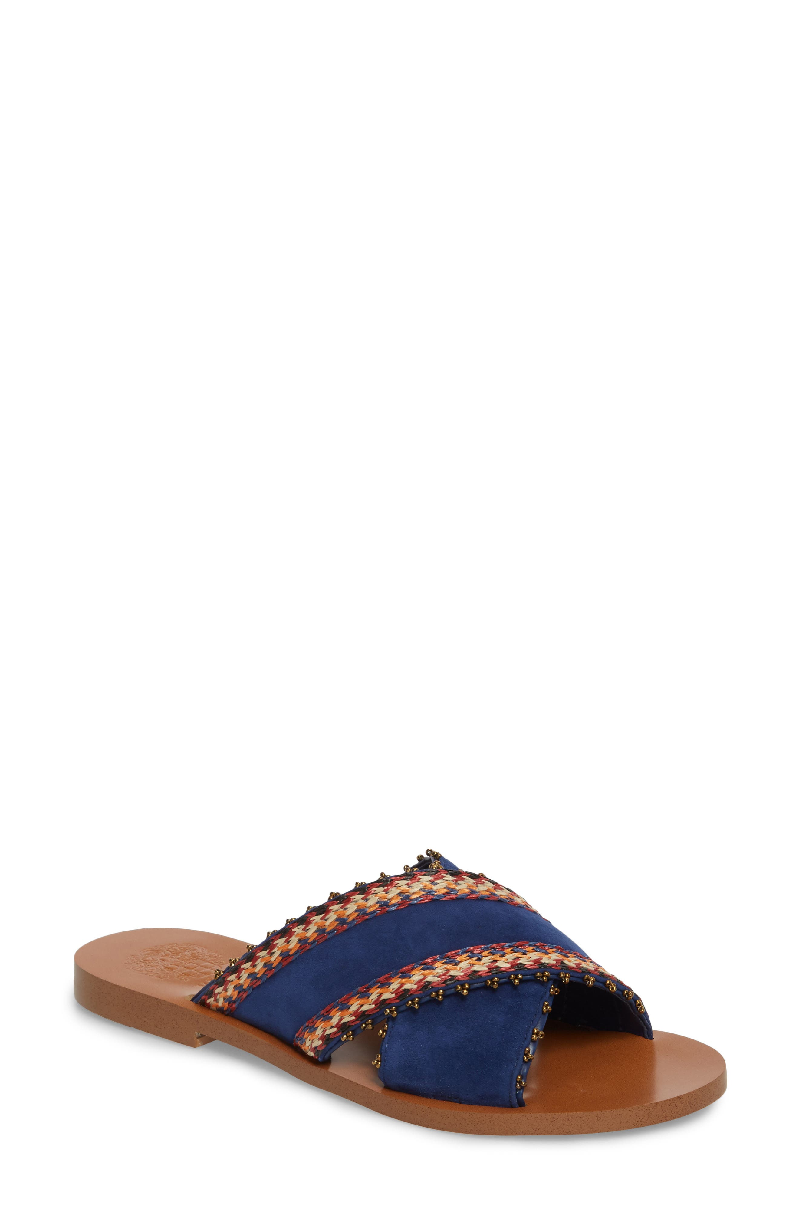 Averal Sandal,                         Main,                         color, Moody Blues/ Red Multi