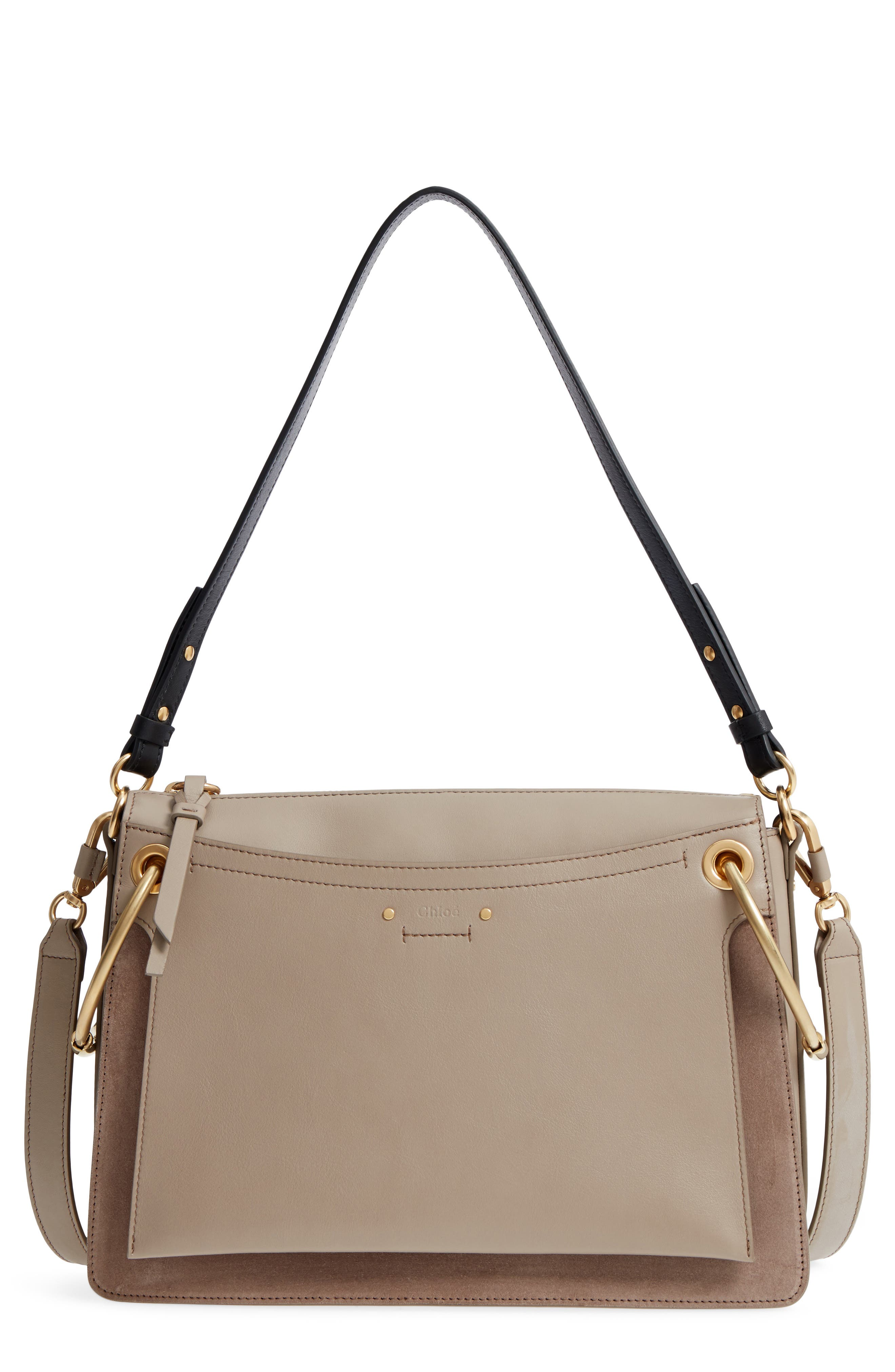Small Roy Leather Shoulder Bag,                             Main thumbnail 1, color,                             Motty Grey