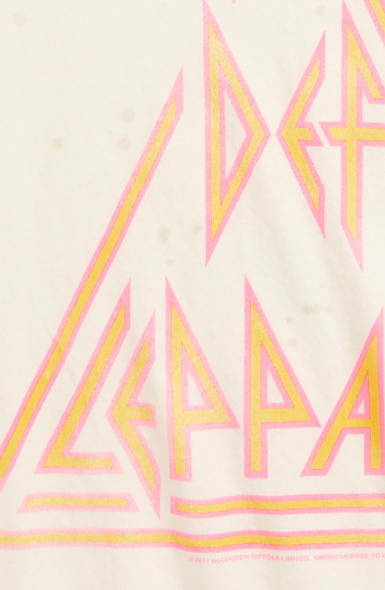 Def Leppard Graphic Tee,                             Alternate thumbnail 2, color,                             Ivory