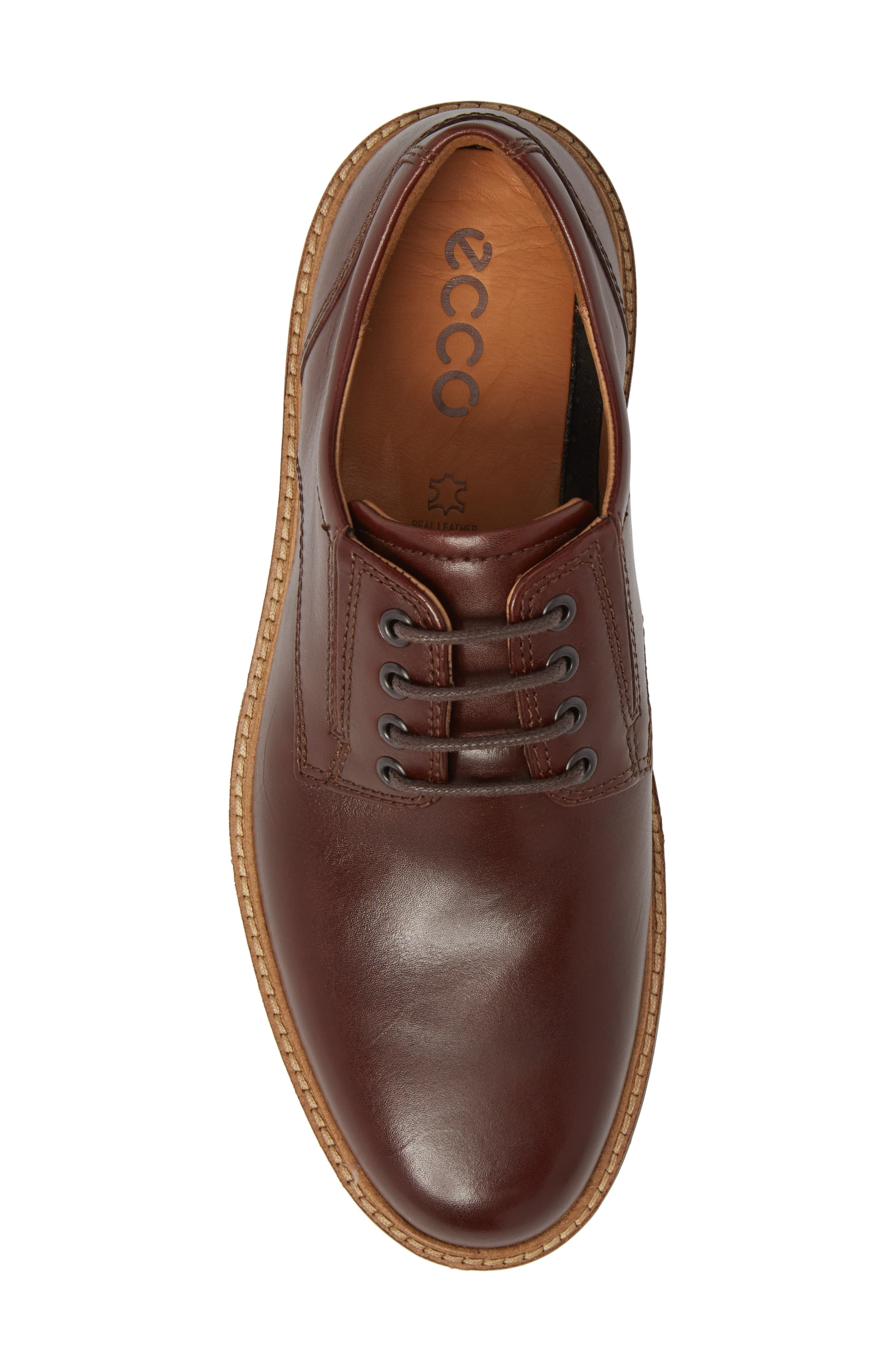 Ian Casual Plain Toe Derby,                             Alternate thumbnail 5, color,                             Mink Leather