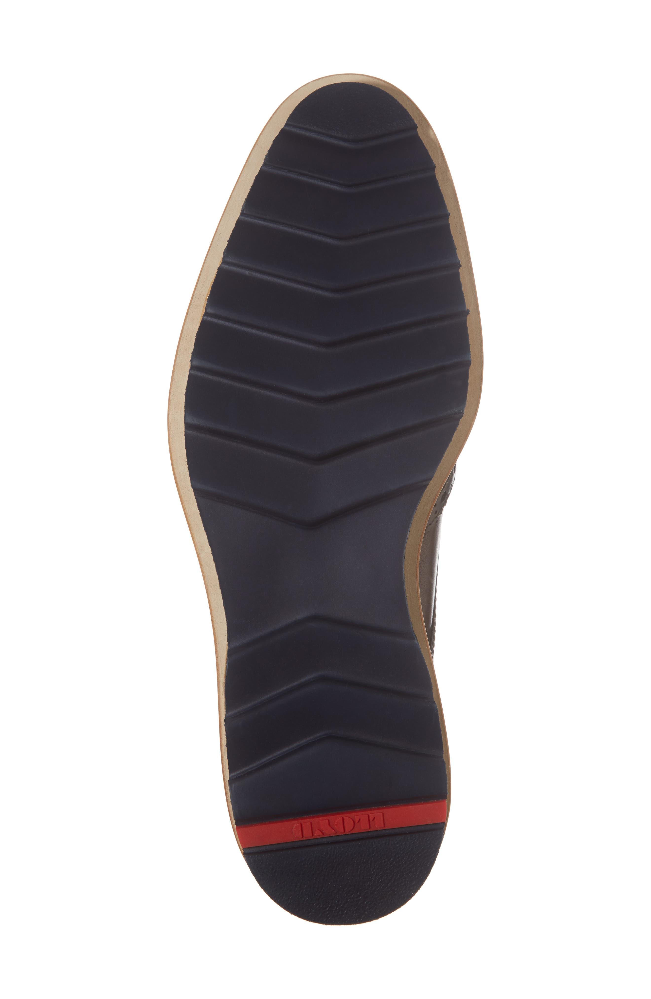 Fairbanks Wingtip,                             Alternate thumbnail 6, color,                             Brown Leather