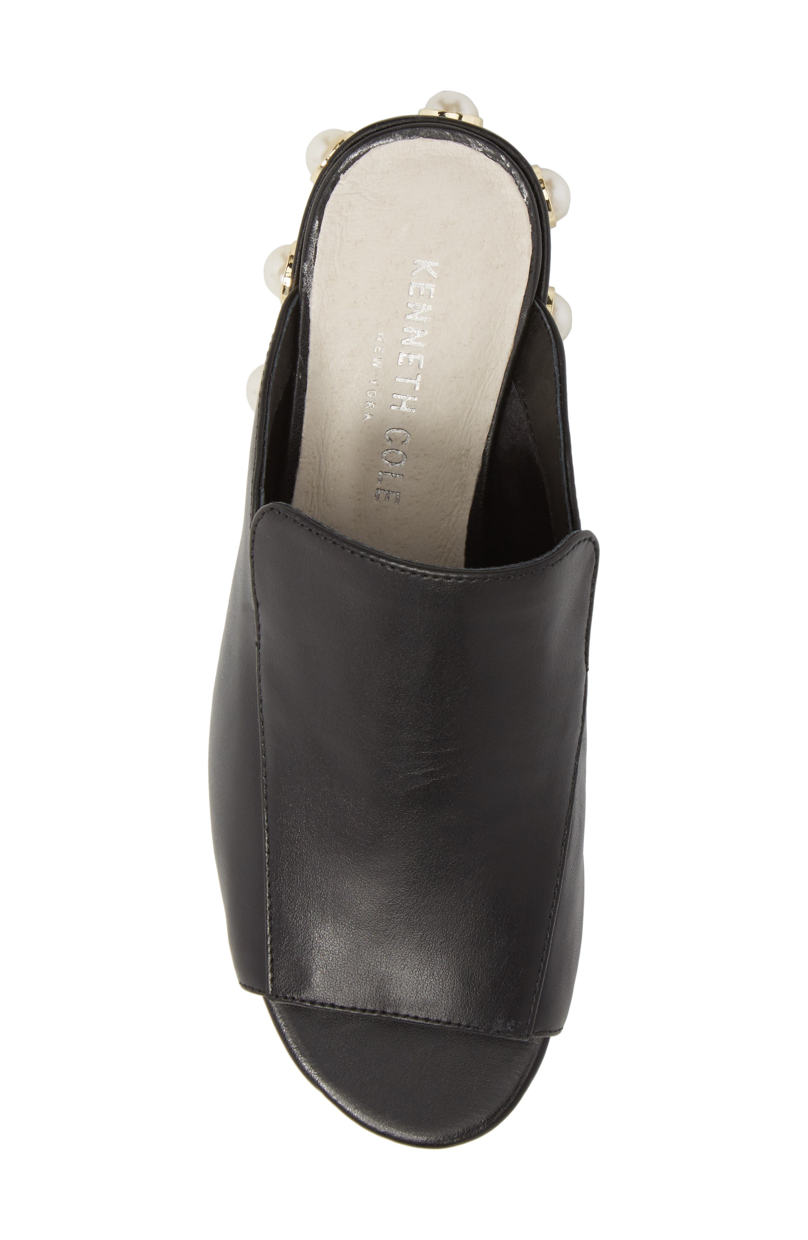 Farley Embellished Mule,                             Alternate thumbnail 5, color,                             Black Leather