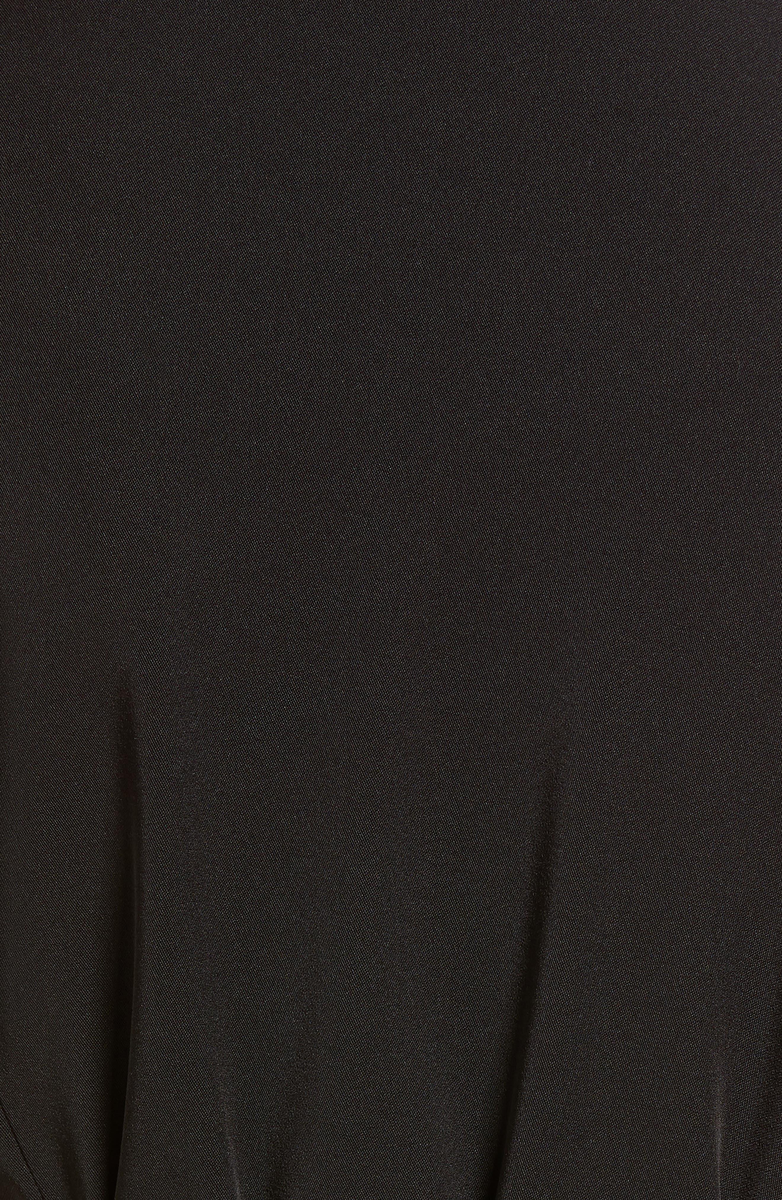 Trench Coat,                             Alternate thumbnail 6, color,                             Black