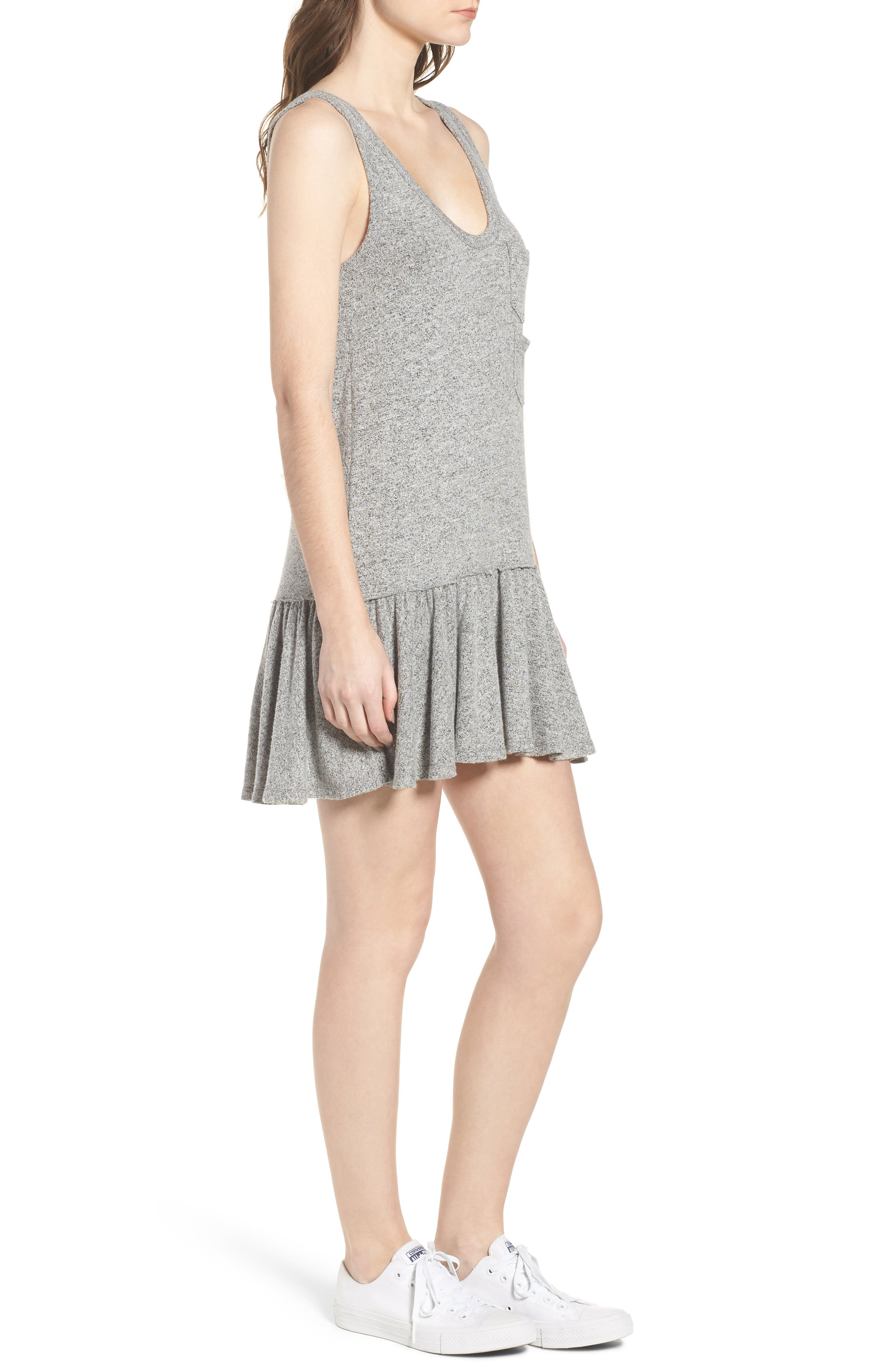 Summer in the City Tank Dress,                             Alternate thumbnail 3, color,                             Heather