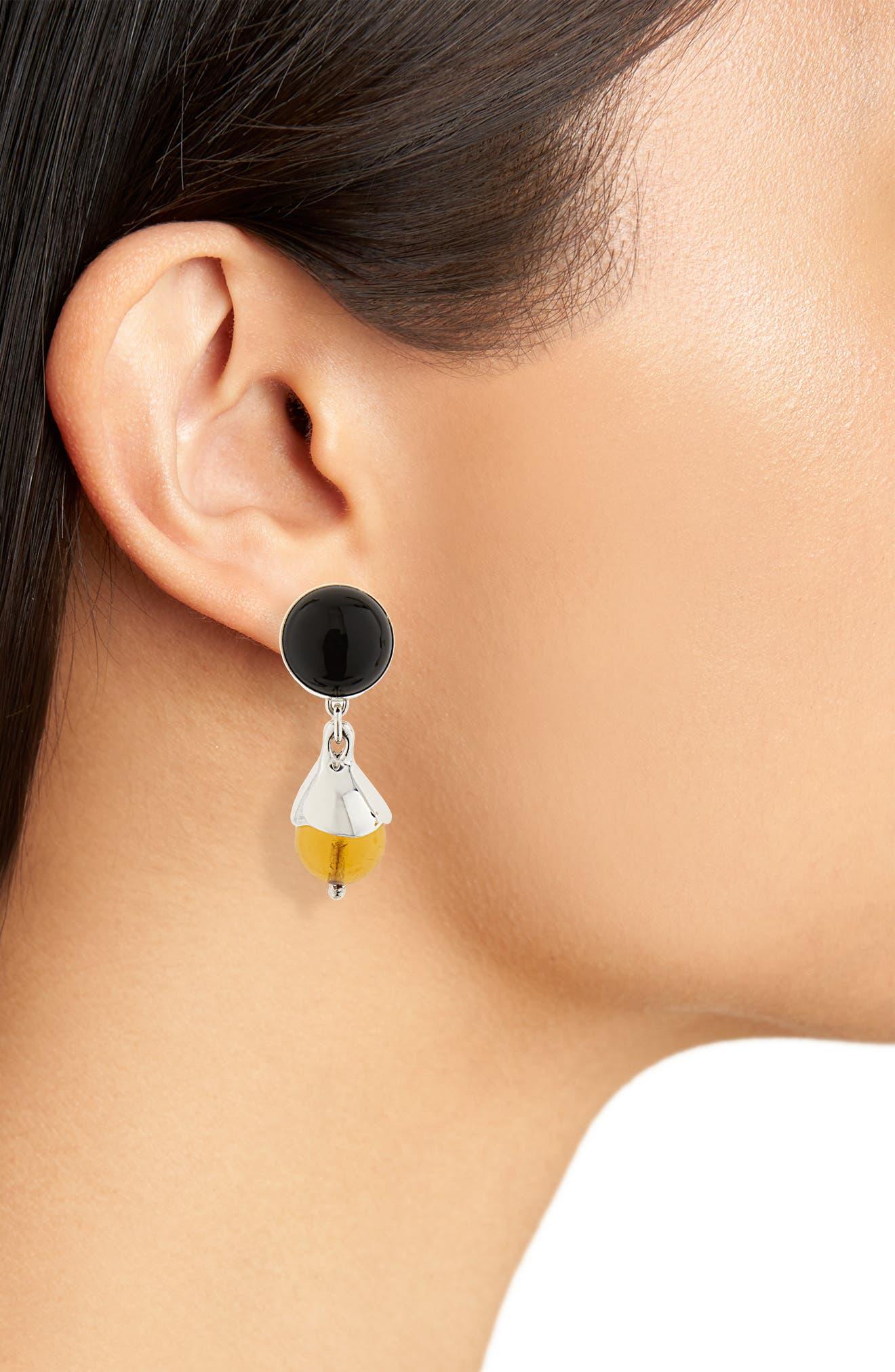 Chapeau Drop Earrings,                             Alternate thumbnail 3, color,                             Sterling Silver